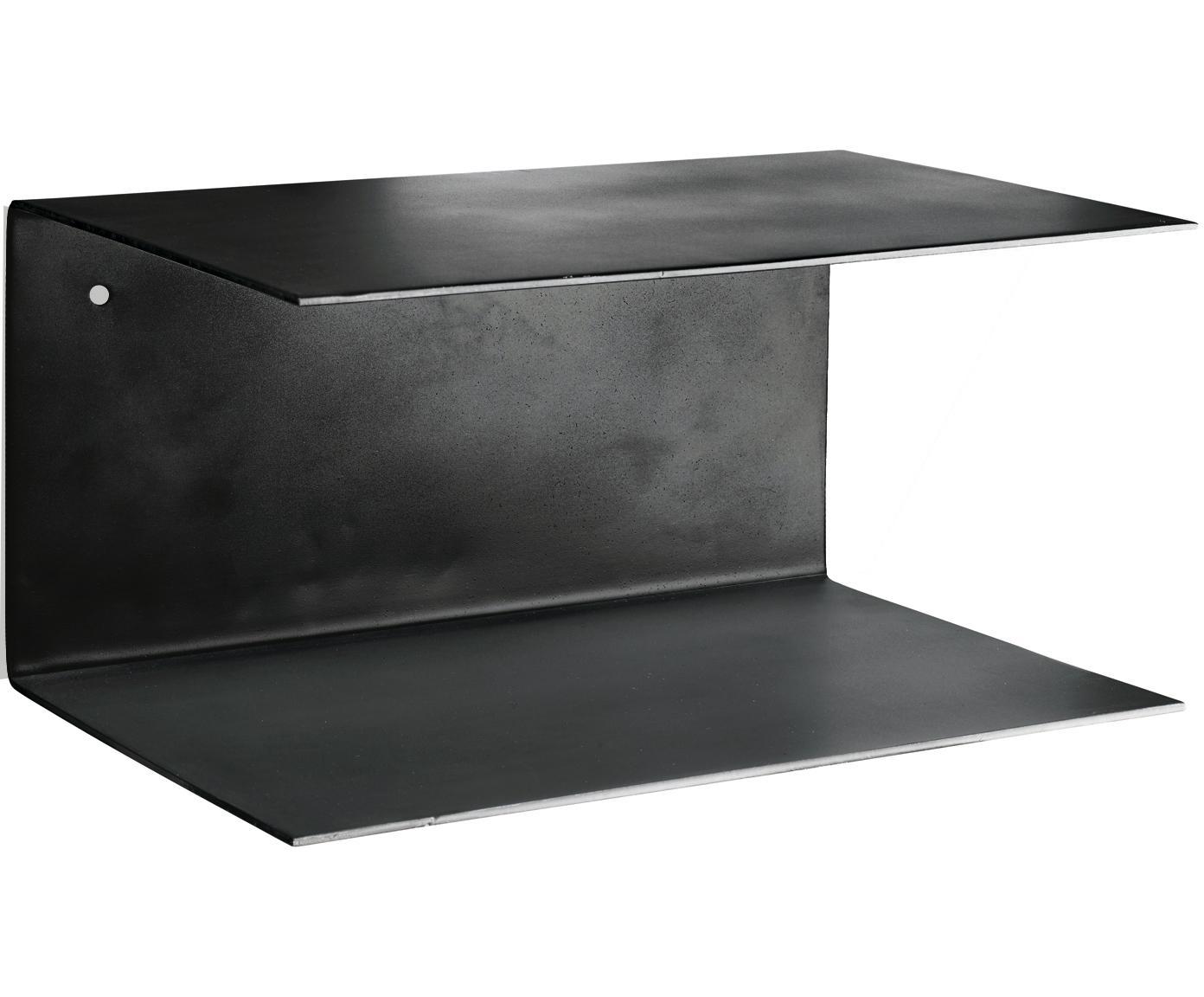 Estantería de pared Phantom, 2uds., Metal pintado, Negro, An 30 x Al 15 cm