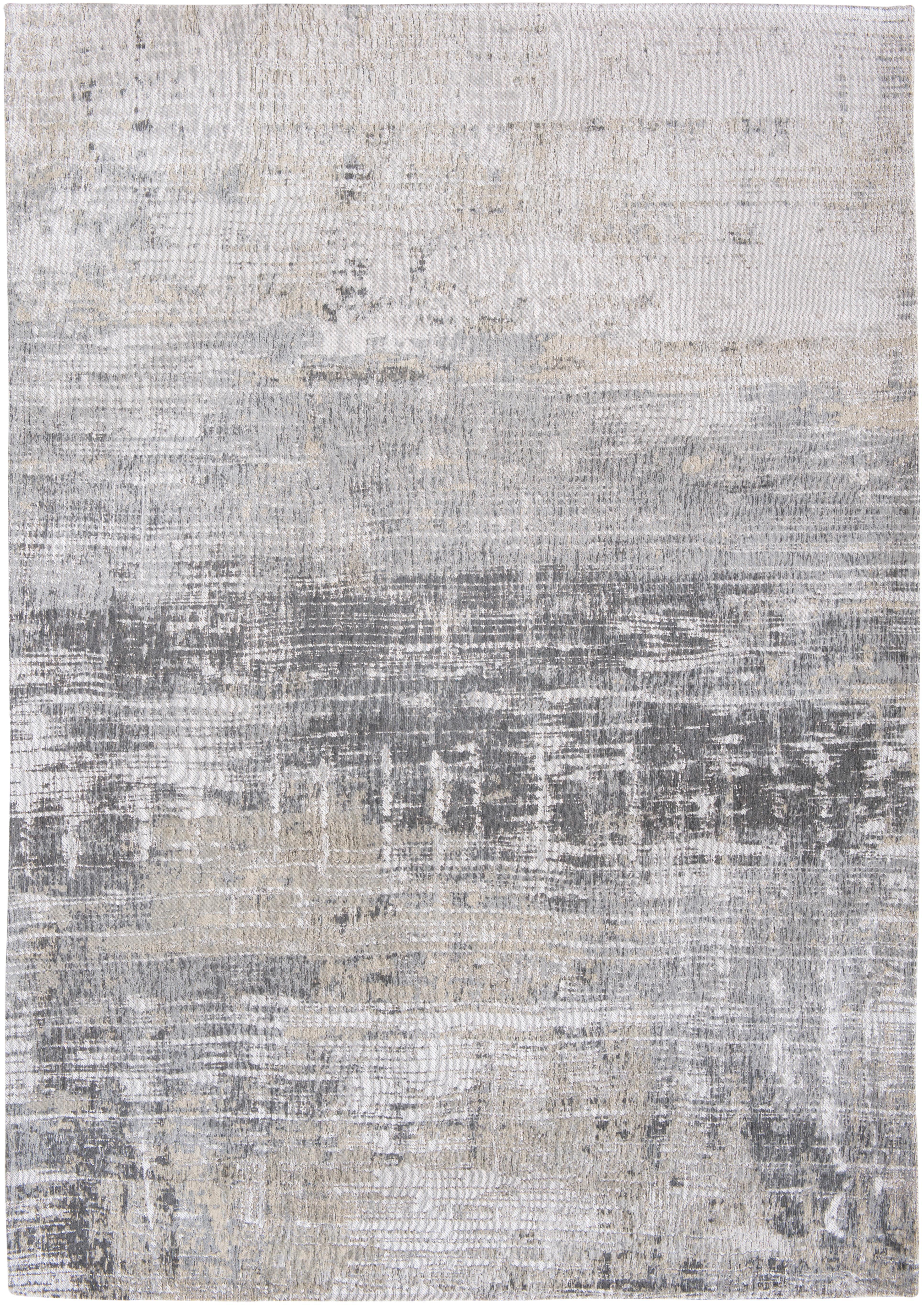 Tappeto di design grigio Streaks, Tessuto: Jacquard, Retro: Miscela di cotone, rivest, Tonalità grigie, Larg.170 x Lung. 240 cm  (taglia M)