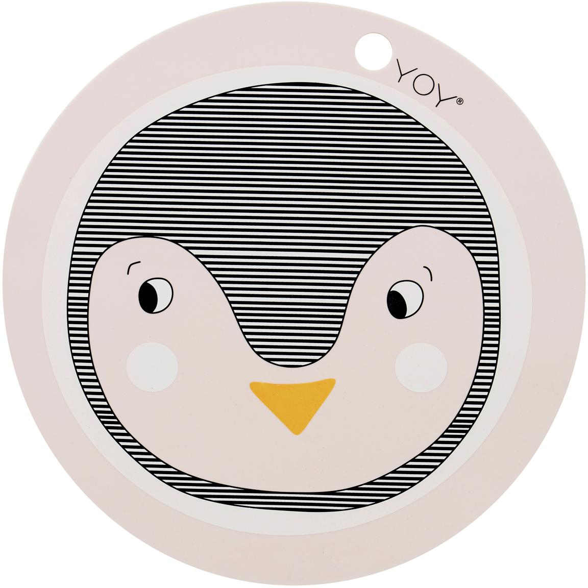 Tovaglietta pinguino in silicone Penguin, Silicone, Rosa, nero, arancione, Ø 39 cm