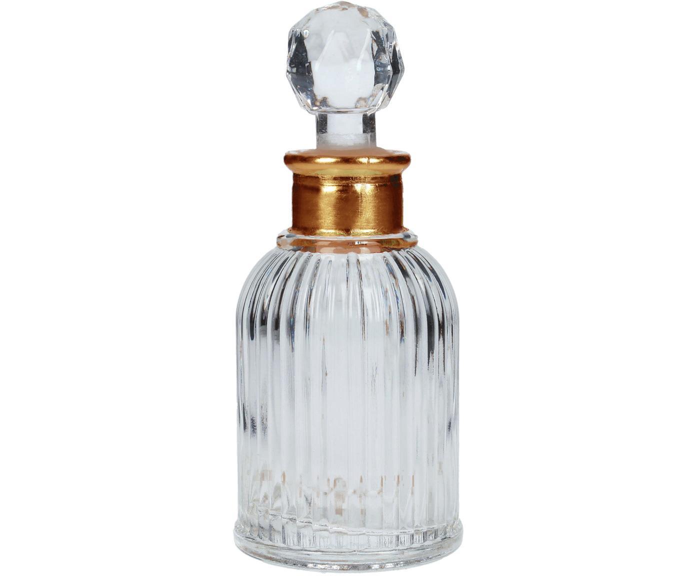 Botella decorativa Rotira, Vidrio, pintado, Transparente, dorado, Ø 6 x Al 14 cm