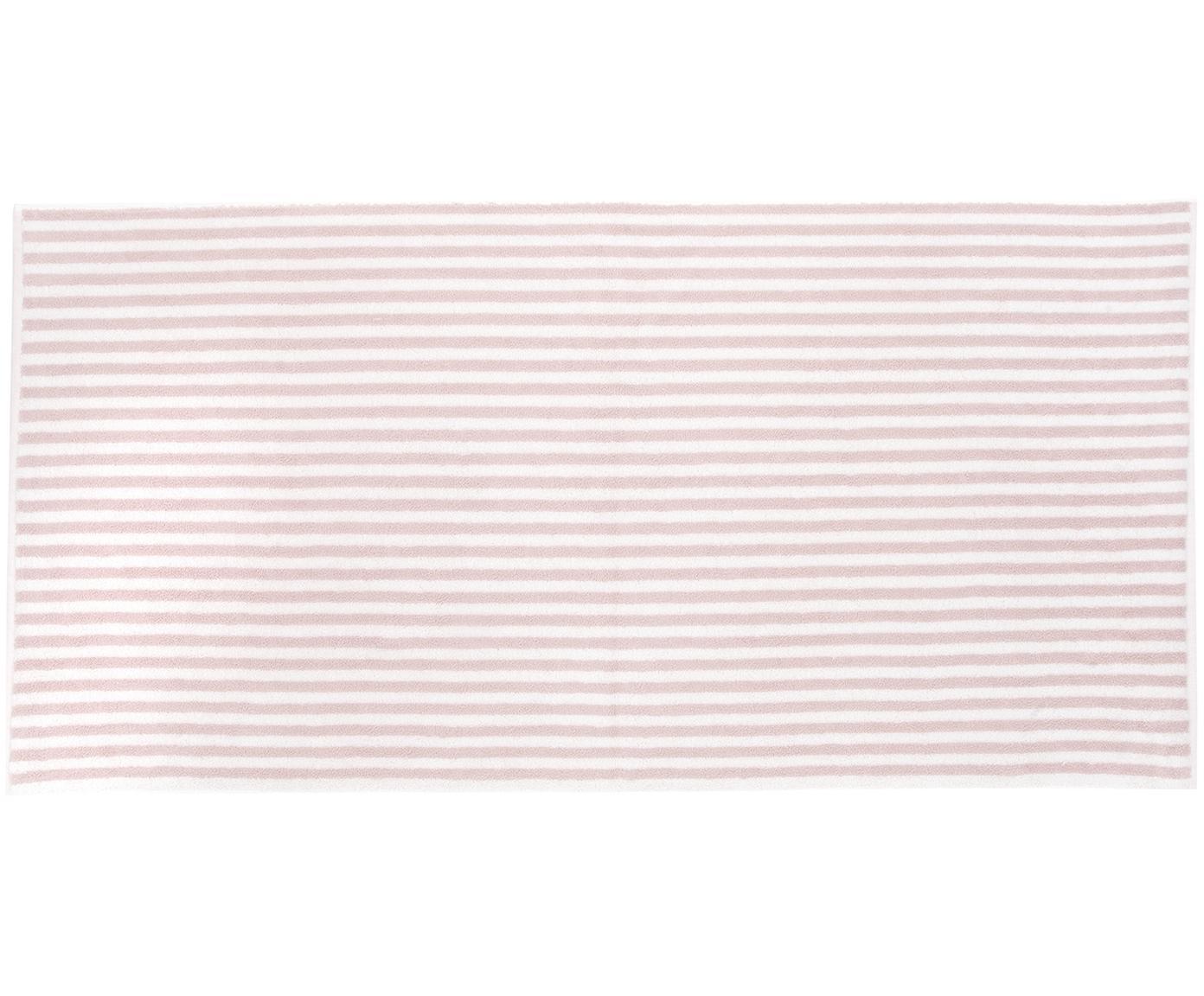 Gestreiftes Handtuch-Set Viola, 3-tlg., Rosa, Cremeweiß, Sondergrößen