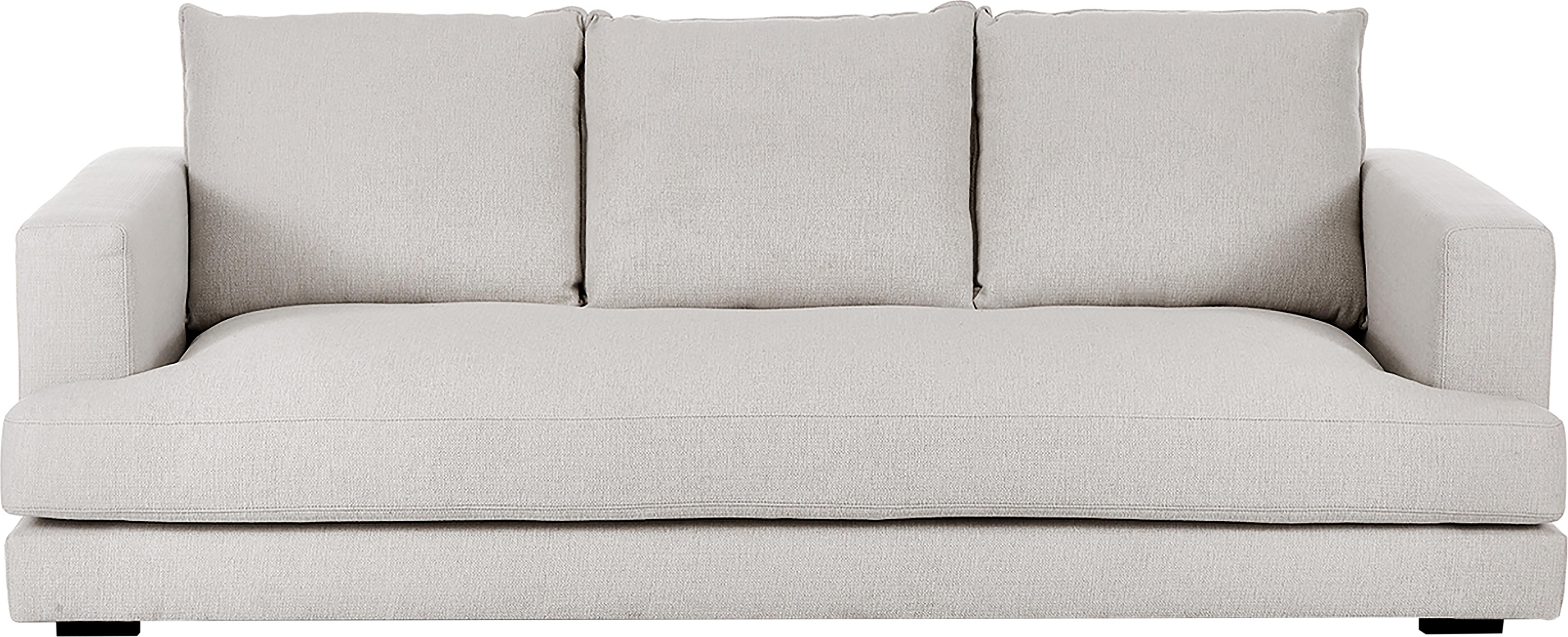 Sofa Tribeca (3-Sitzer), Bezug: Polyester 25.000 Scheuert, Sitzfläche: Schaumpolster, Fasermater, Gestell: Massives Kiefernholz, Füße: Massives Buchenholz, lack, Webstoff Beigegrau, B 228 x T 104 cm