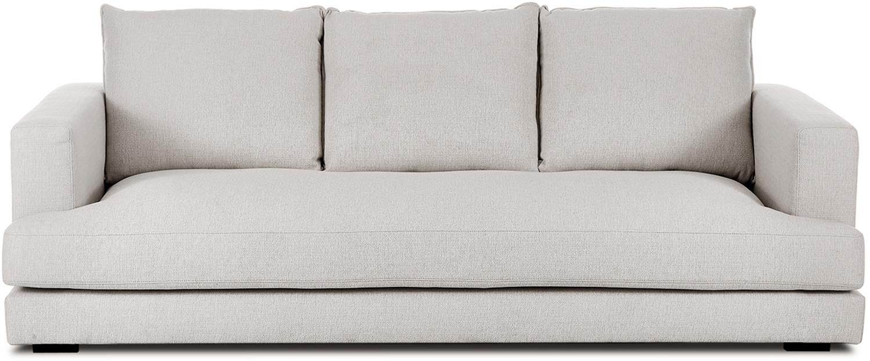 Sofa Tribeca (3-Sitzer), Bezug: Polyester Der hochwertige, Gestell: Massives Kiefernholz, Füße: Massives Buchenholz, lack, Webstoff Beigegrau, B 228 x T 104 cm