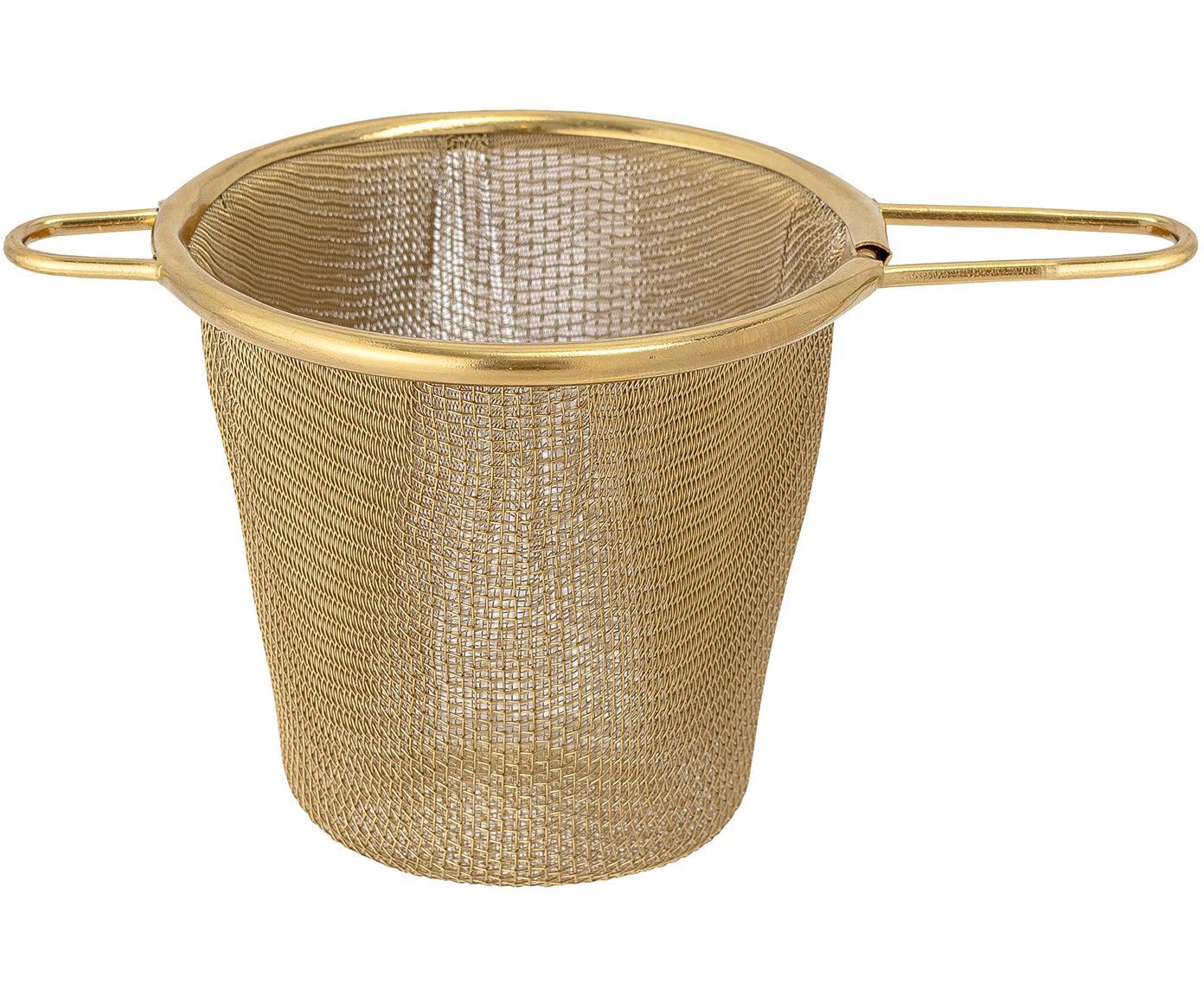 Sitko do herbaty Kronos, Stal szlachetna, powlekana, Odcienie mosiądzu, S 14 x W 7 cm