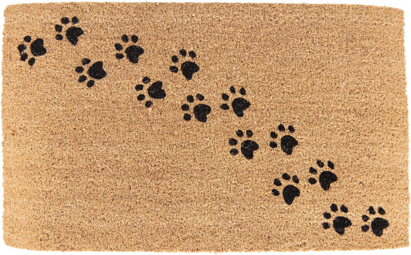 Wycieraczka Paws, Brązowy, czarny, S 45 x D 75 cm