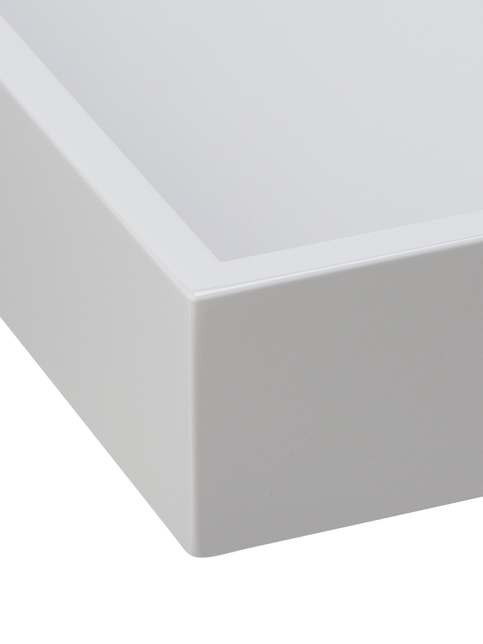 Vassoio effetto lucido Hayley, Vassoio: pannello di fibra a media, Grigio chiaro, fondo: grigio chiaro, Larg. 50 x Prof. 35 cm