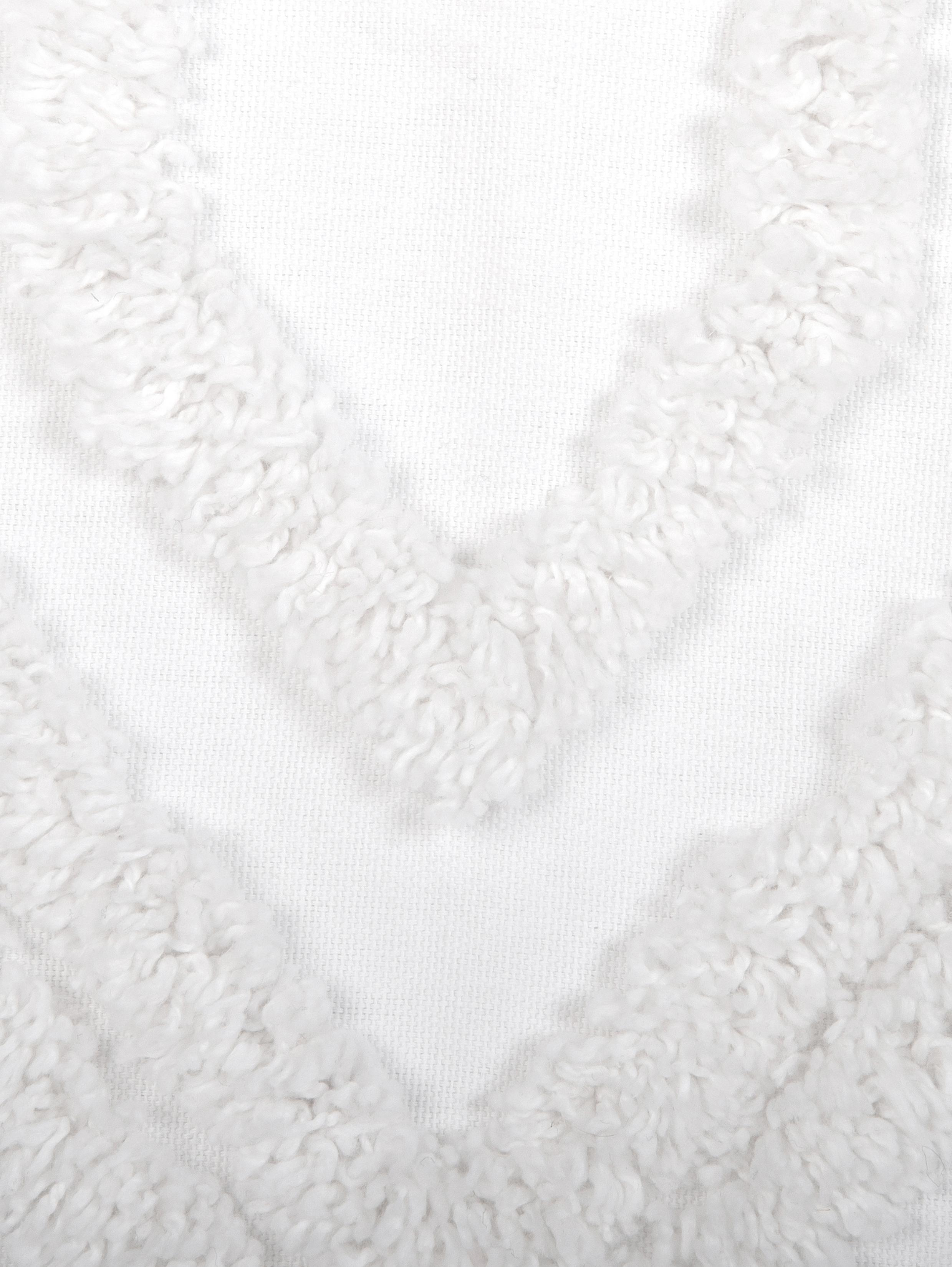 Kissenhülle Faye mit getuftetem Muster, Webart: Panama, Weiss, 40 x 60 cm