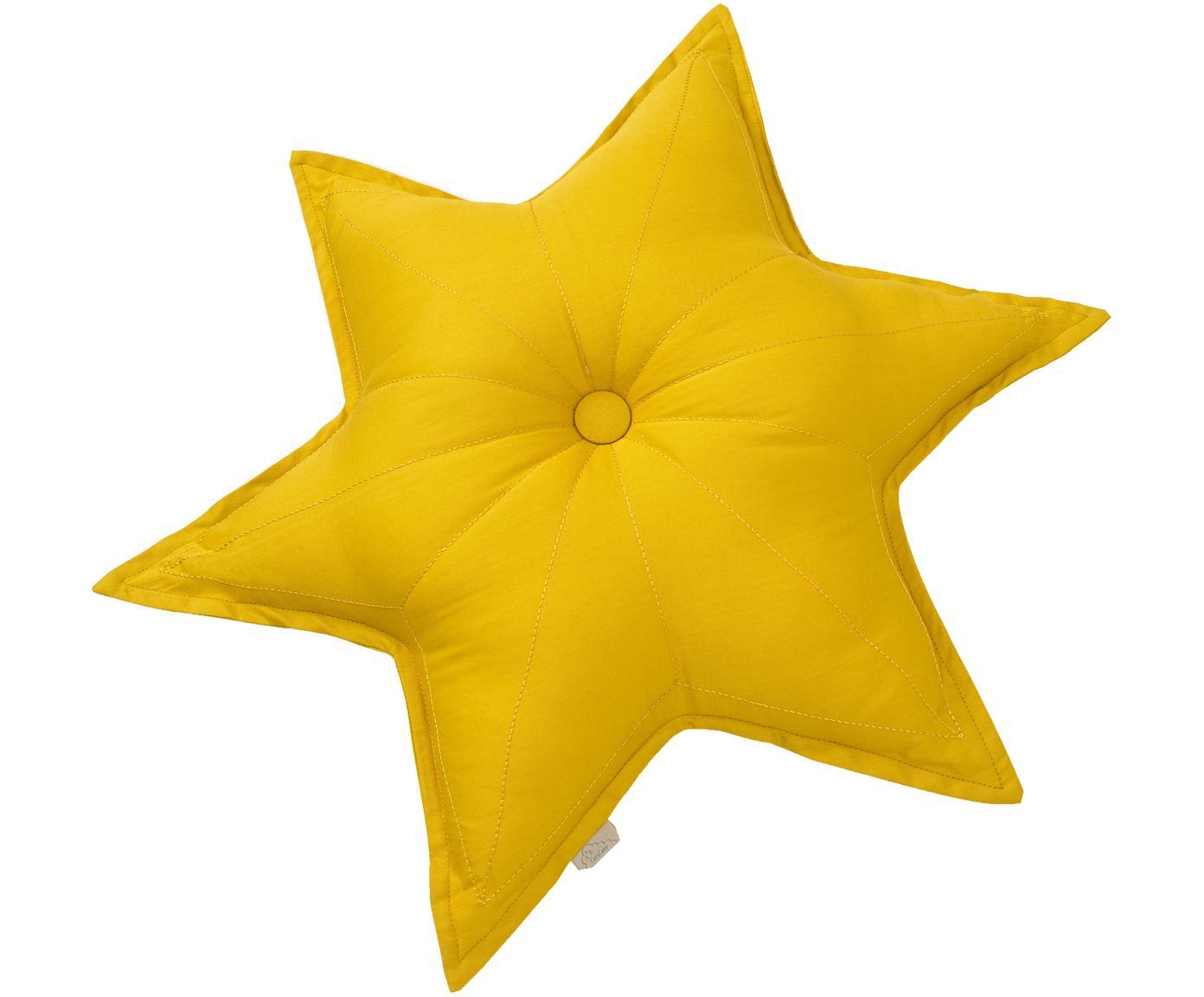 Poduszka z bawełny organicznej z wypełnieniem Star, Tapicerka: bawełna organiczna, Musztardowy, S 45 x D 45 cm