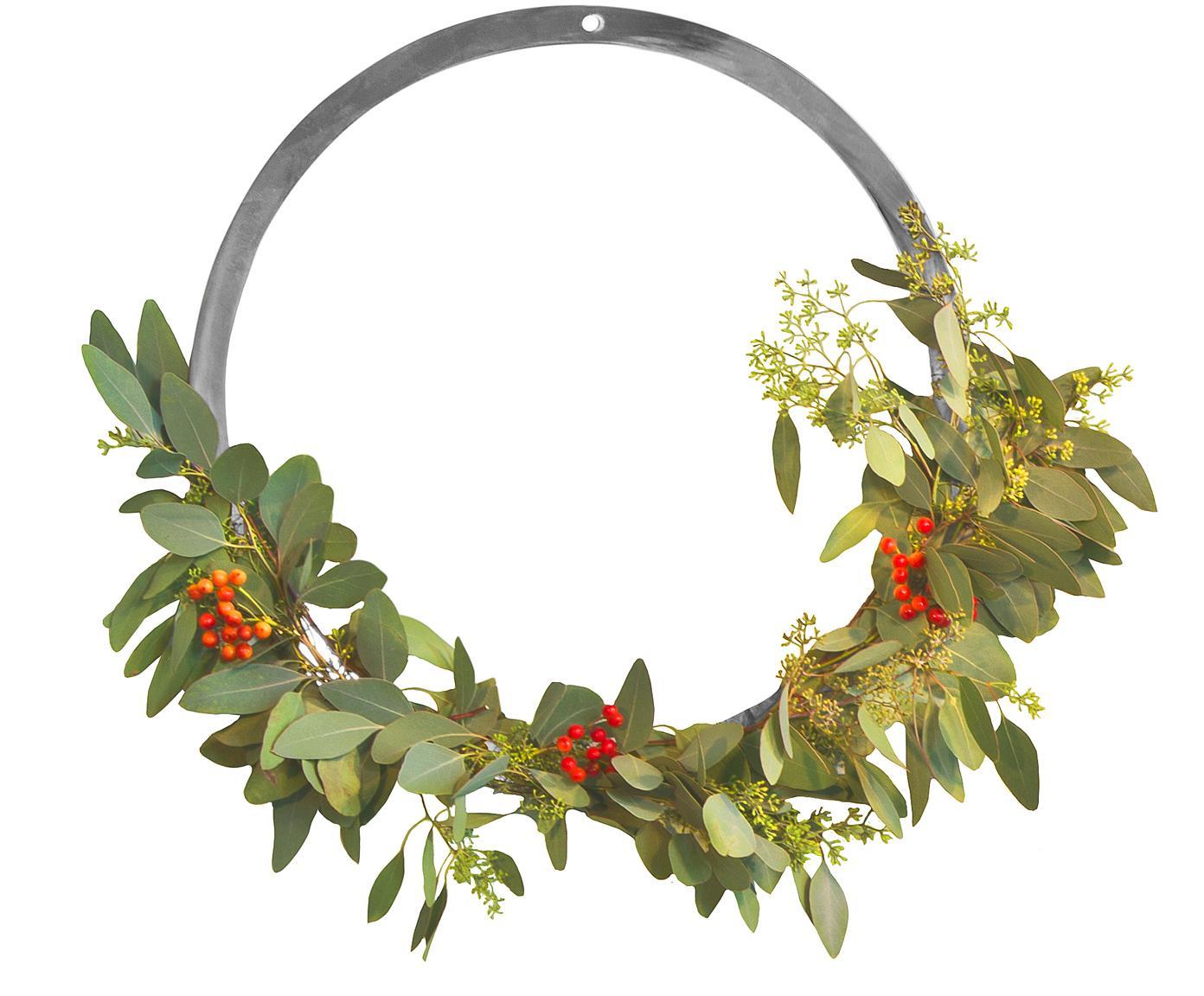 Wandobjekt Wreath, Edelstahl, gebürstet, Edelstahl, Ø 20 cm