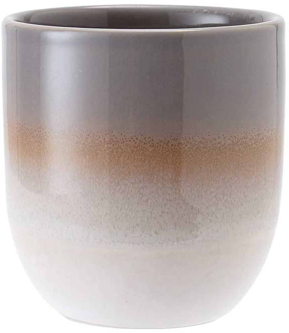 Tazas Café, 4uds., Gres, Marrón, Ø 8 x Al 9 cm