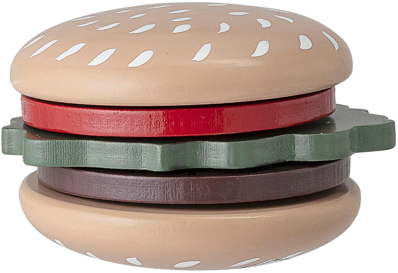 Set di giocattoli Hamburger, Legno di loto, pannelli di fibra a media densità (MDF), nylon, Multicolore, Ø 7 x Alt. 5 cm