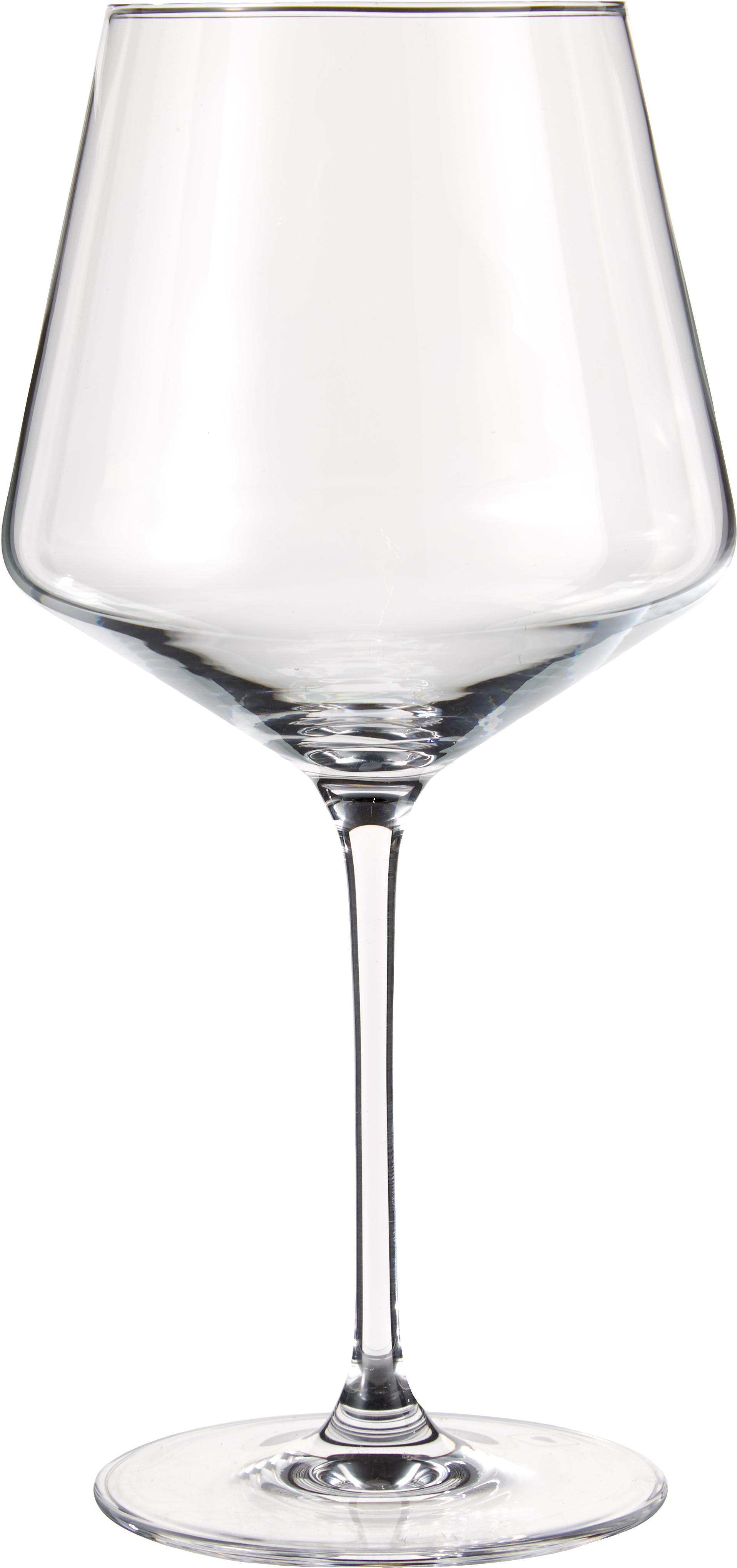 Bauchige Rotweingläser Burgunder Puccini, 6er-Set, Teqton®-Glas, Transparent, Ø 11 x H 23 cm