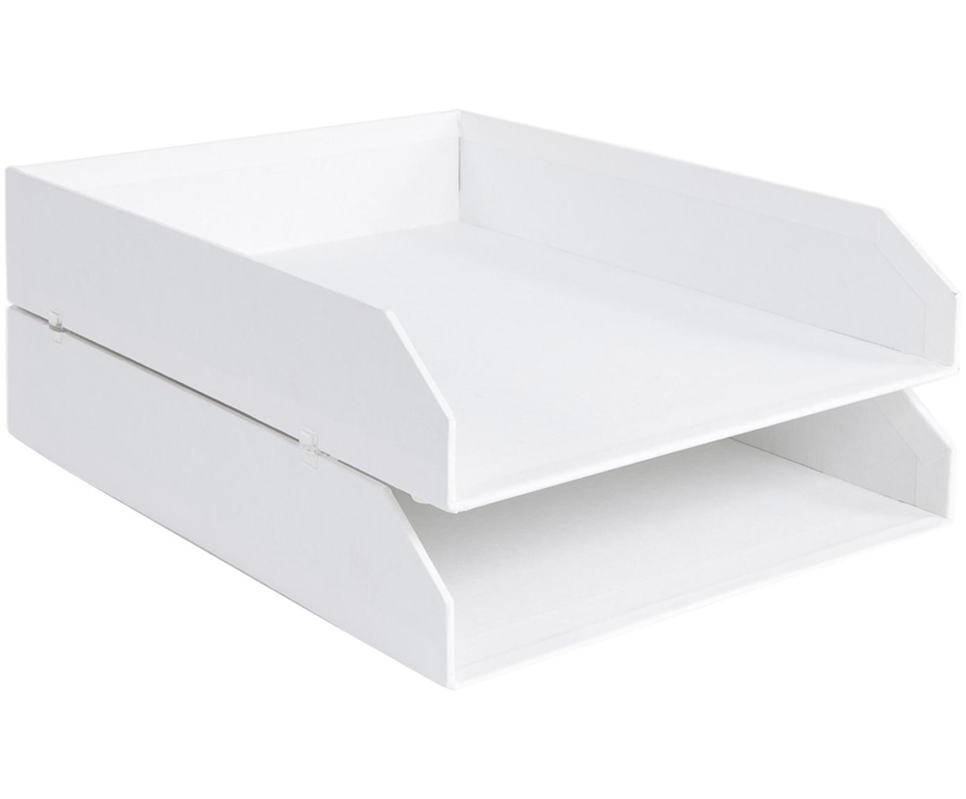 Organizadores de documentos Hakan, 2uds., Cartón laminado, Blanco, An 23 x F 31 cm