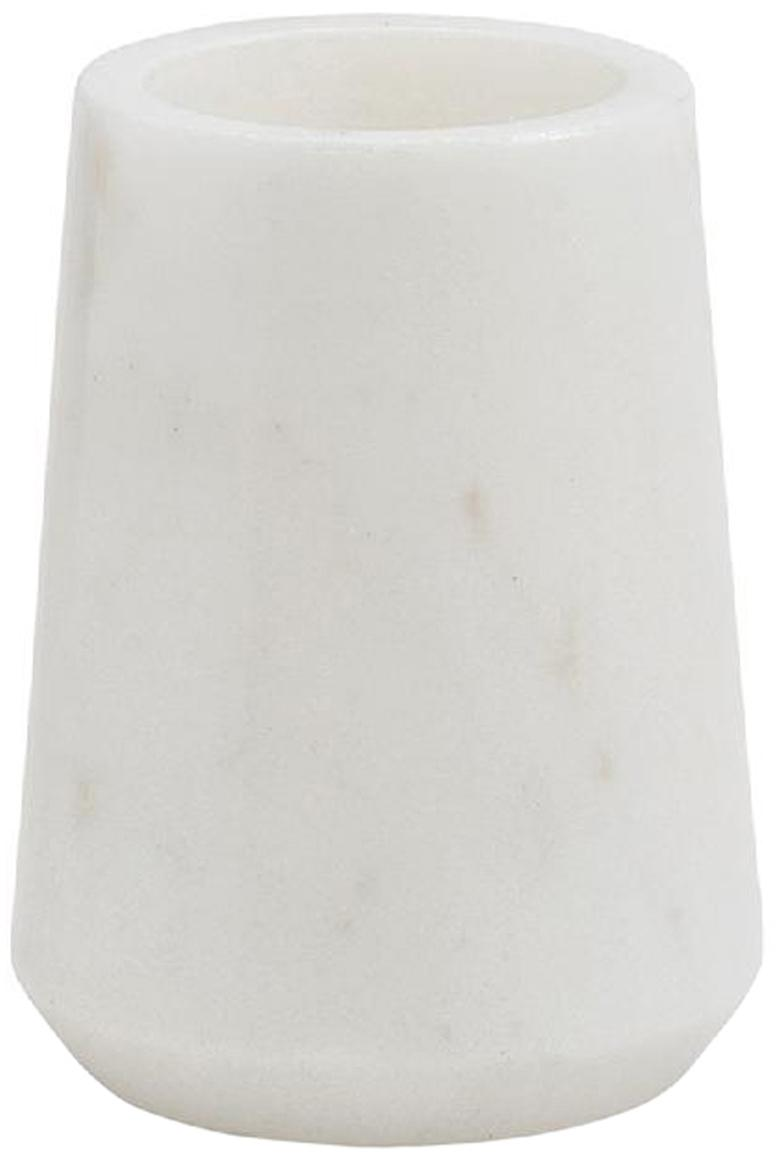 Porta spazzolini in marmo Lux, Marmo, Bianco, Ø 9 x Alt. 11 cm