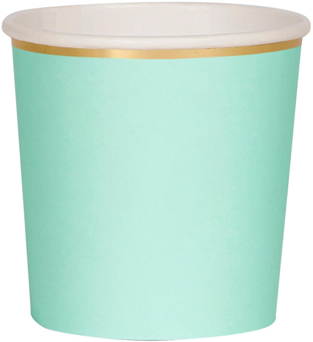 Papier-Becher Simply Eco, 8 Stück, Papier, foliert, Mintgrün, Ø 8 x H 8 cm