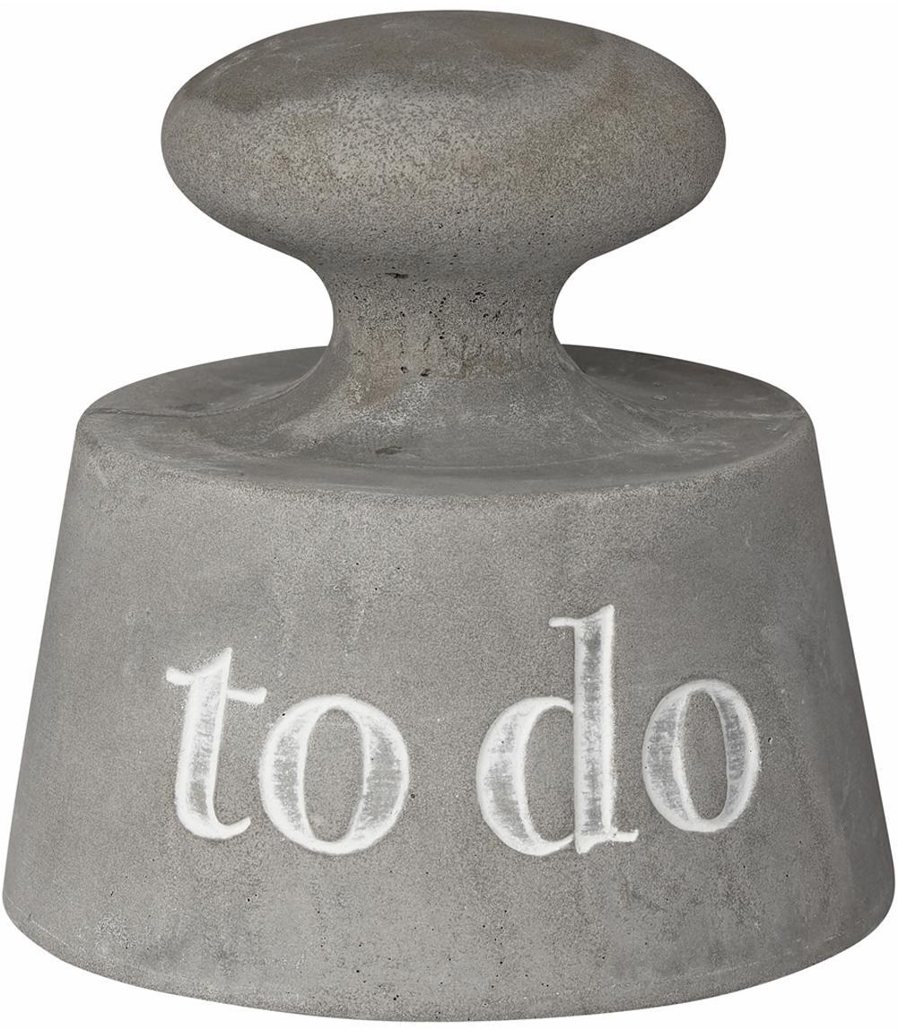 Fermacarte To Do, Cemento, Grigio, Ø 8 x Alt. 8 cm