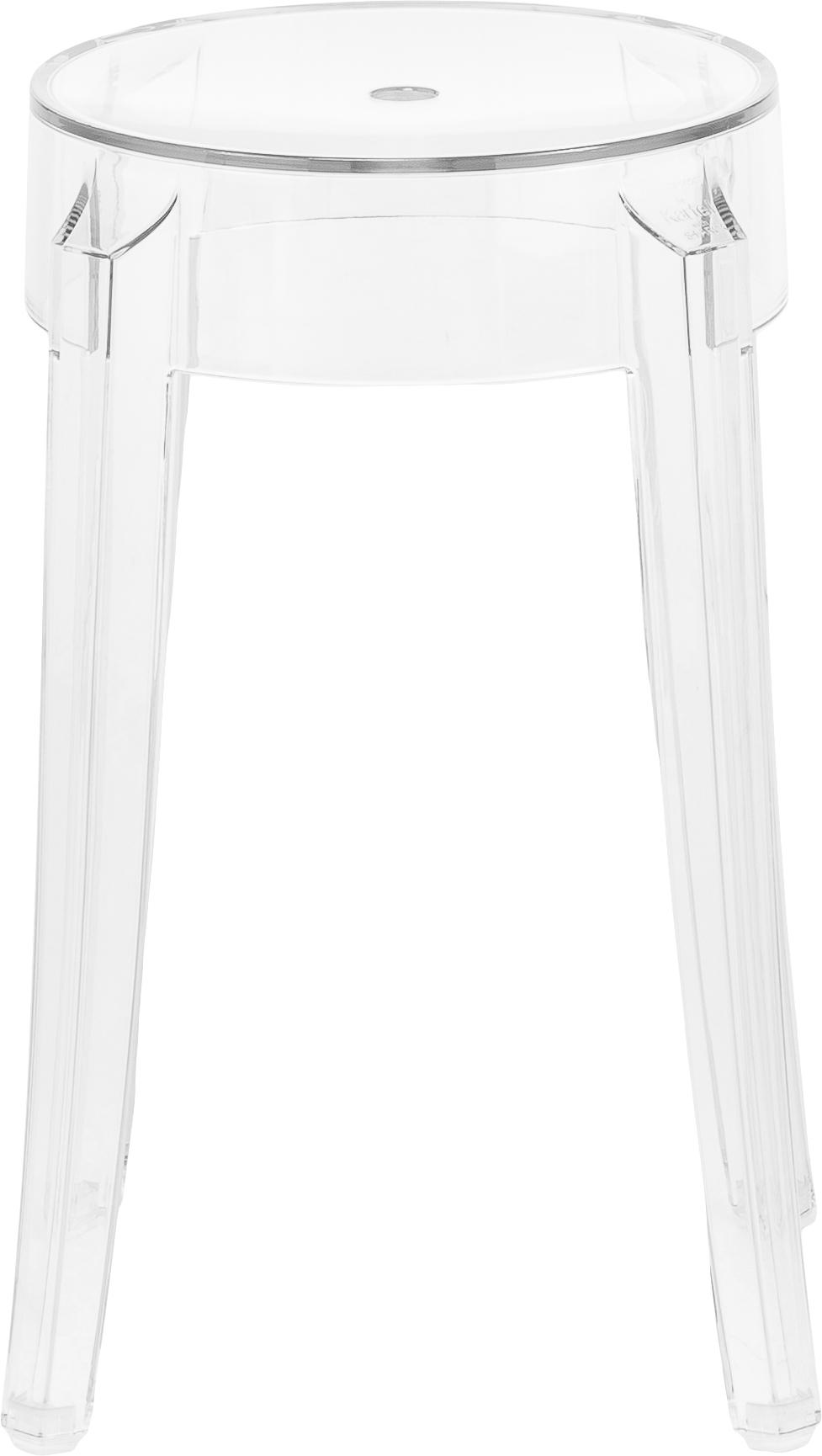Tabouret/table d'appoint transparent Charles Ghost, Transparent