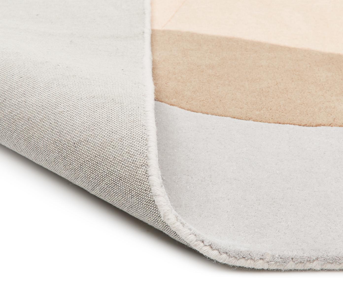 Ręcznie tuftowany dywan z wełny Luke, Beżowy, szary, morelowy, S 120 x D 180 cm