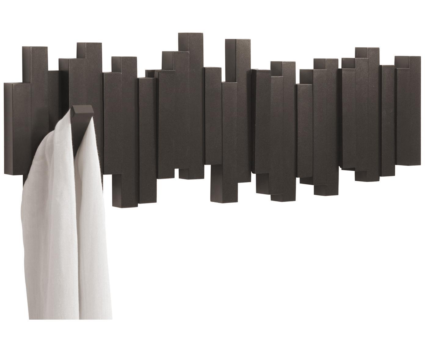 Appendiabiti Sticks, Materiale sintetico, Espresso, Larg. 48 x Alt. 18 cm