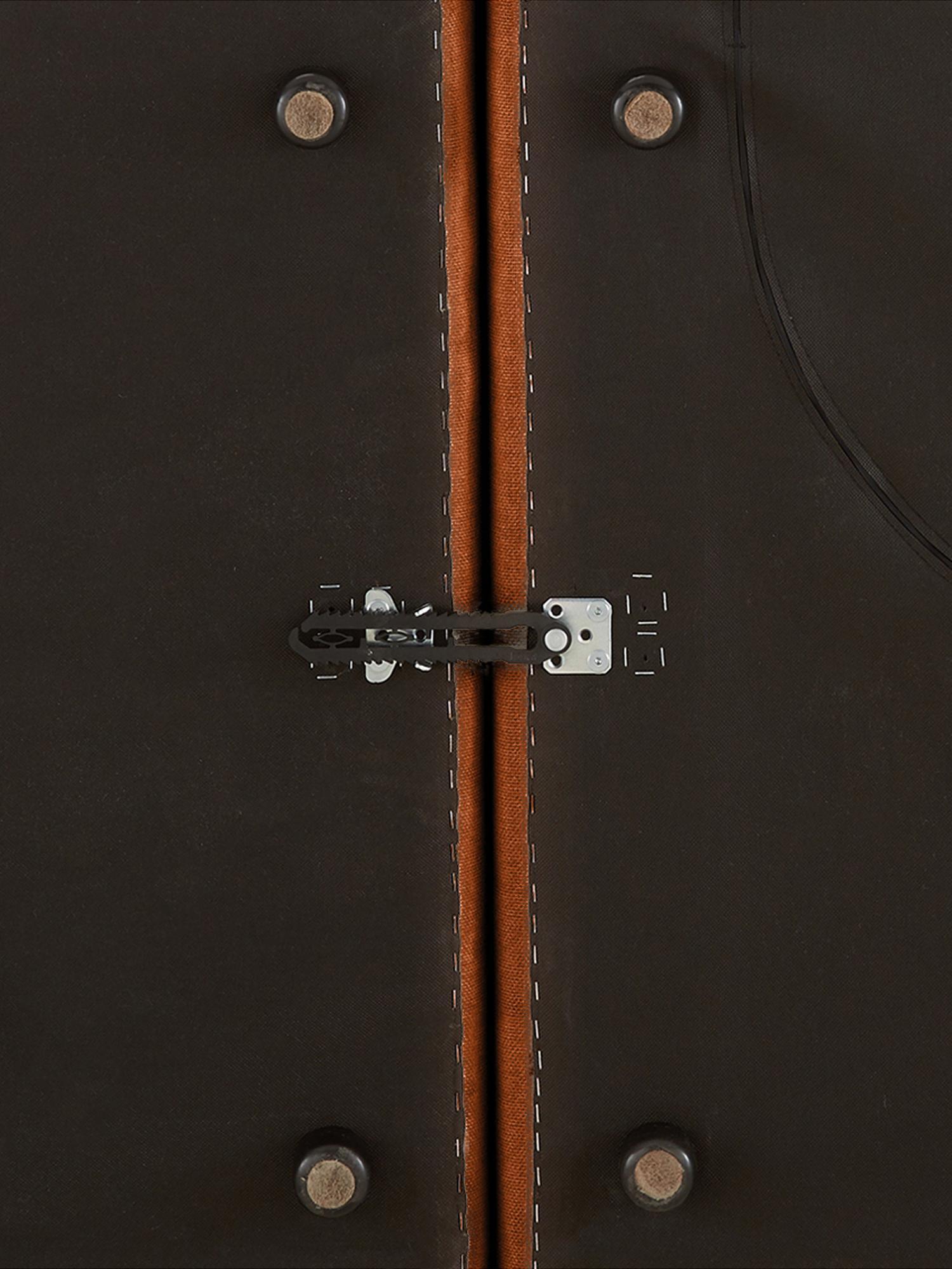 Divano angolare componibile in tessuto color terracotta Lennon, Rivestimento: poliestere 35.000 cicli d, Struttura: legno di pino massiccio, , Piedini: materiale sintetico, Tessuto color terracotta, Larg. 326 x Prof. 207 cm