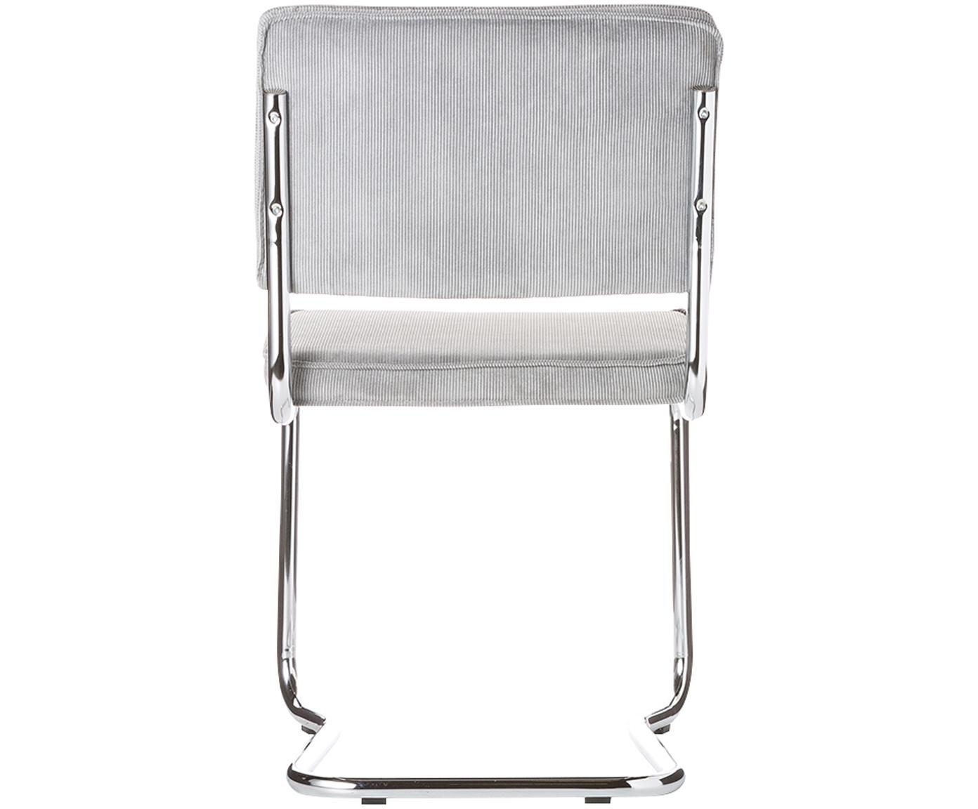 Krzesło Ridge Kink Chair, Tapicerka: 88% nylon, 12% poliester, Tapicerka: pianka poliuretanowa (sie, Stelaż: metal chromowany Wyproduk, Jasnoszary, S 48 x W 85 cm