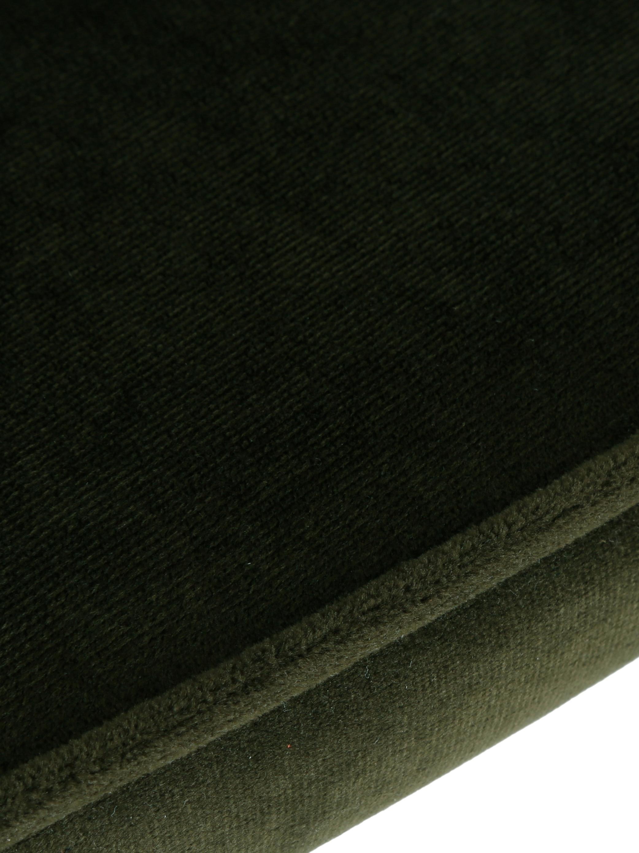 Samt-Polsterstühle Jasper, 2 Stück, Bezug: Samt (Hochwertiger Polyes, Beine: Metall, pulverbeschichtet, Dunkelgrün, B 49 x T 57 cm