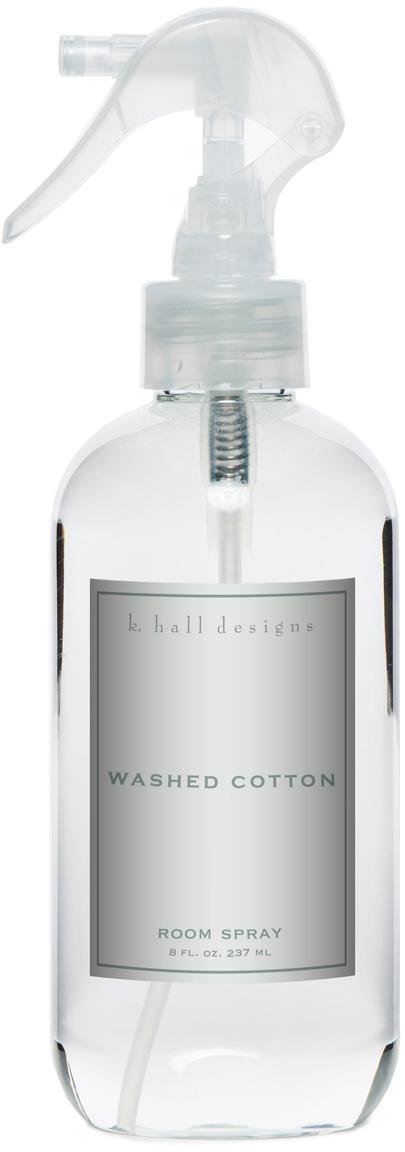 Spray per ambienti Washed Cotton (lavanda e camomilla), Trasparente, Ø 5 x Alt. 24 cm