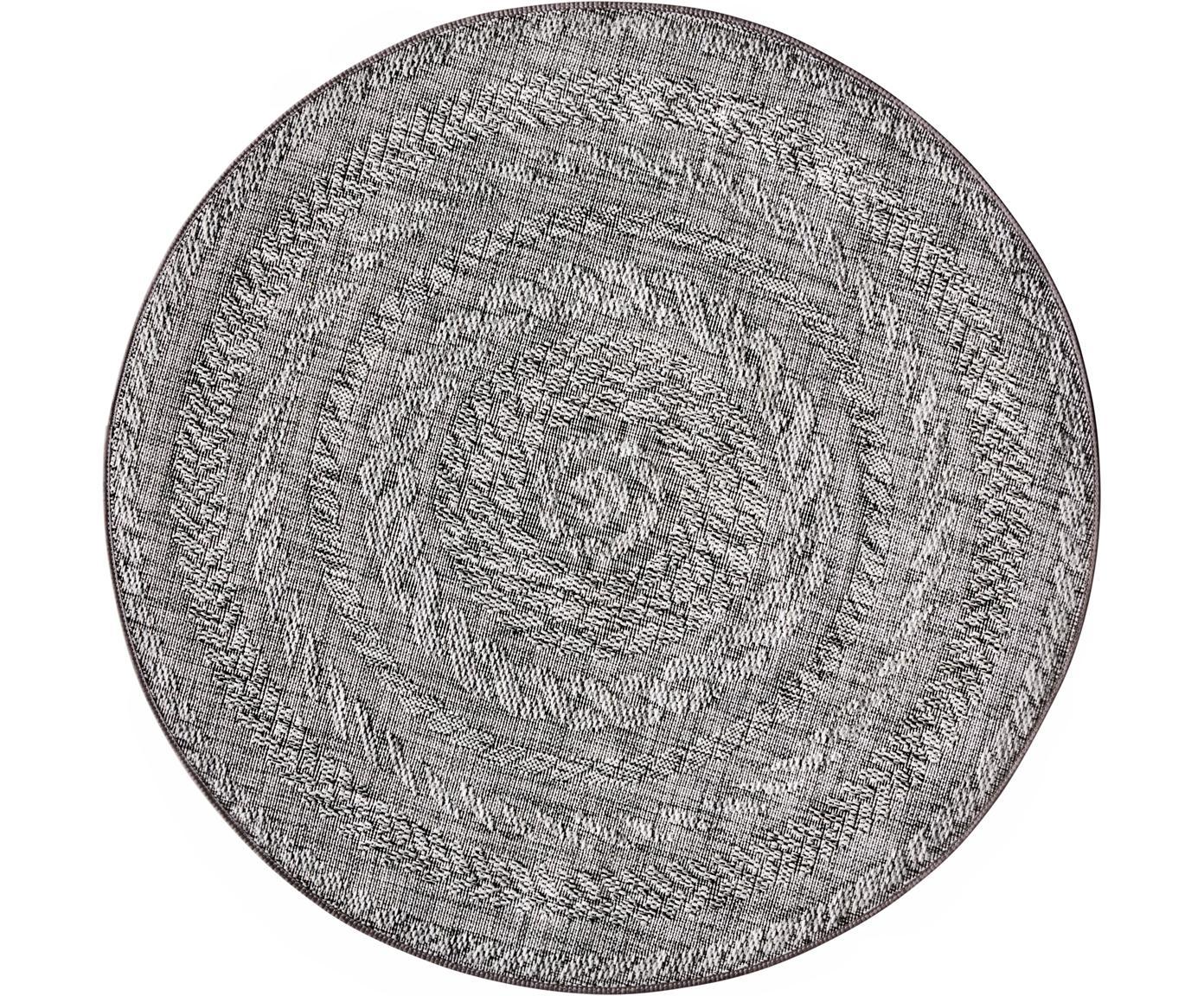 Runder In- & Outdoor-Teppich Antaro, Polypropylen, Hellgrau, Ø 160 cm (Größe L)