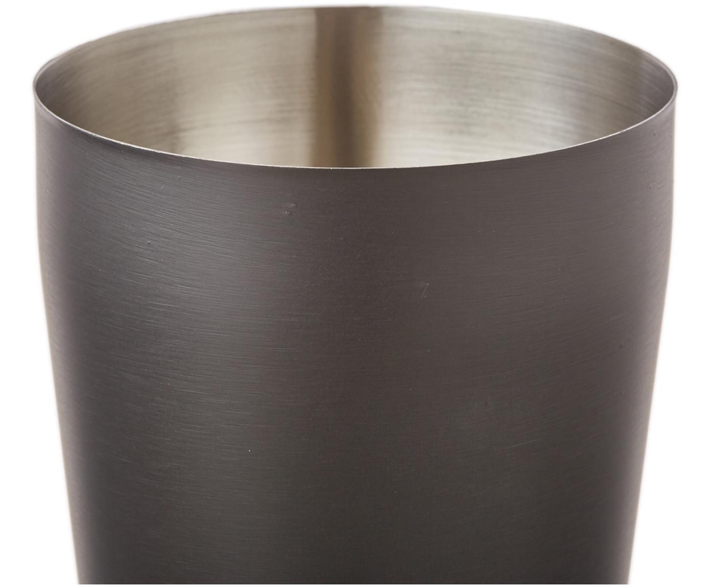 Komplet do koktajli Menirau, 3 elem., Czarny, odcienie mosiądzu, Różne rozmiary