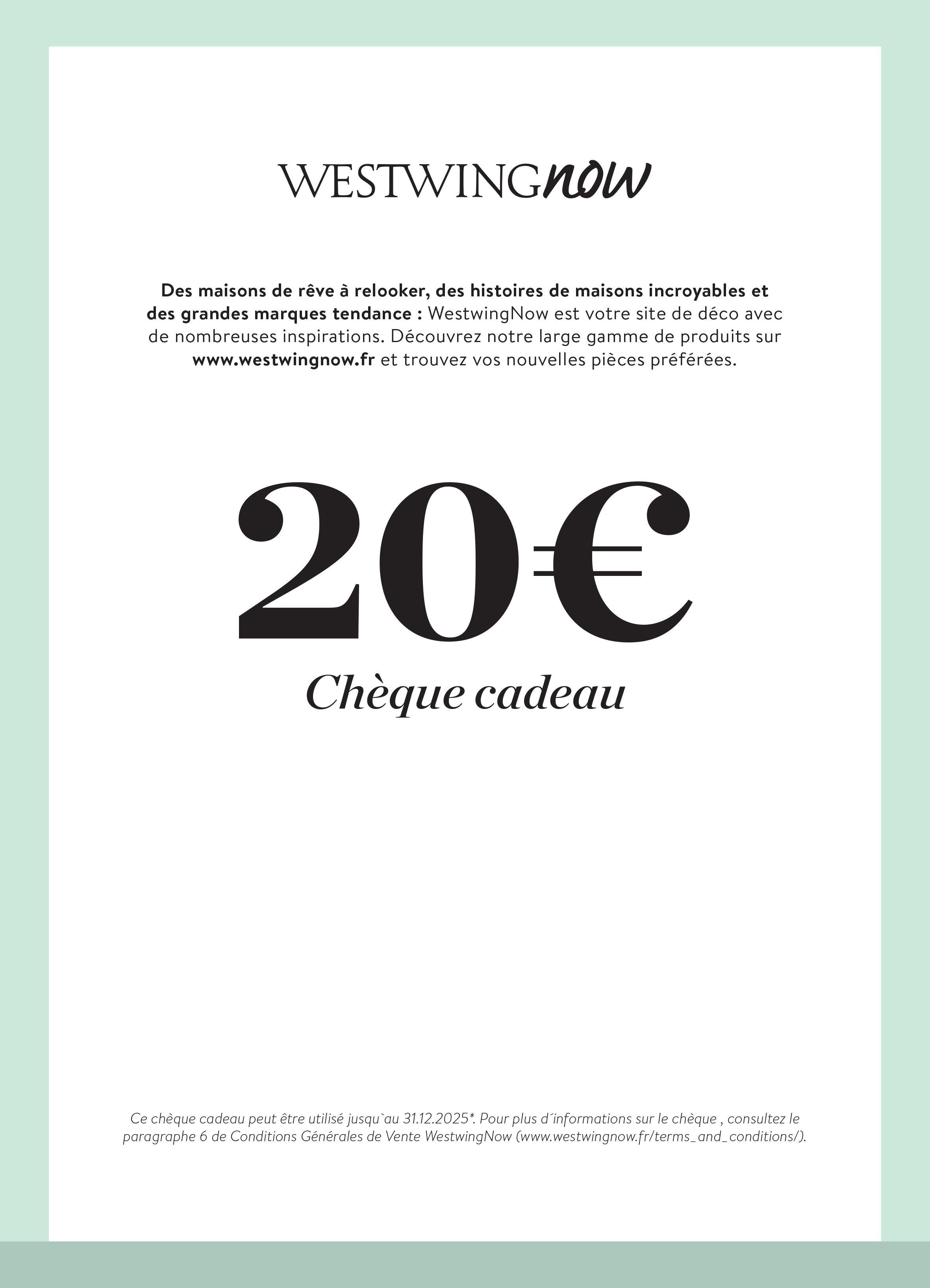 Cheque Cadeau A Imprimer Westwingnow