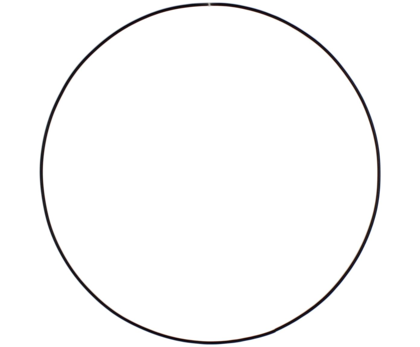 Ring Rondon, Metall, lackiert, Schwarz, Ø 40