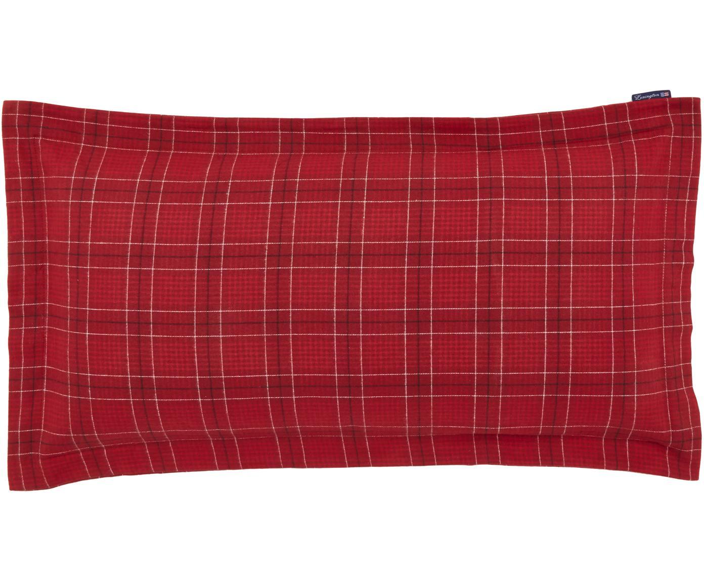 Poszewka na poduszkę Checked, Bawełna, Czerwony, biały, czarny, S 40 x D 80 cm