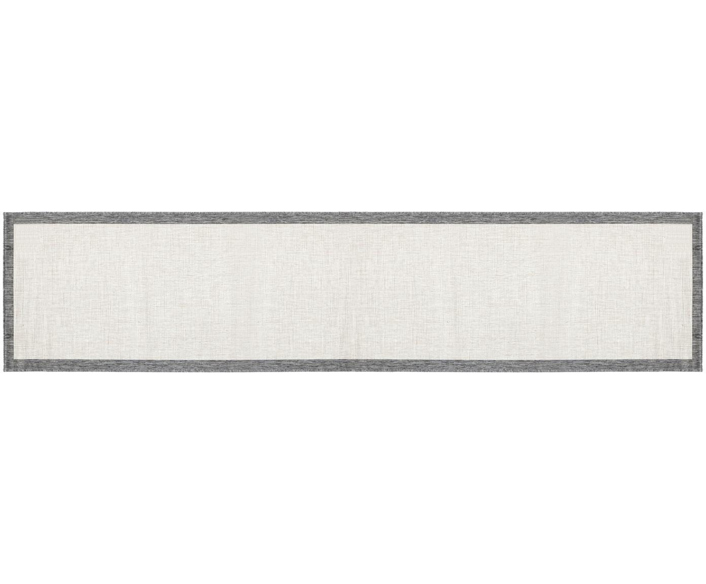 Passatoia reversibile da interno-esterno Panama, Grigio, crema, Larg. 80 x Lung. 350 cm