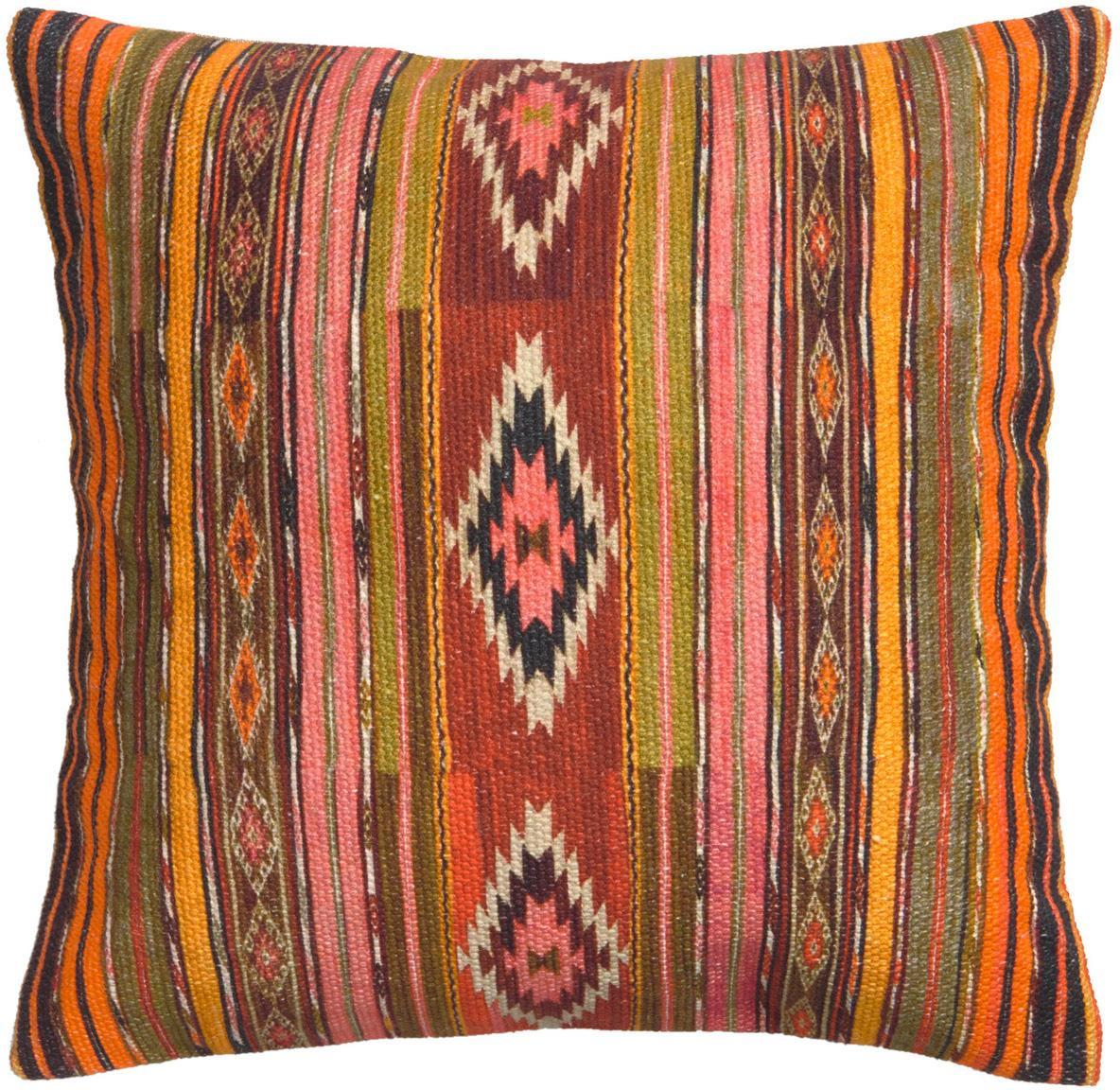 Funda de cojín Kusa, estilo étnico, 100%algodón, Multicolor, An 45 x L 45 cm