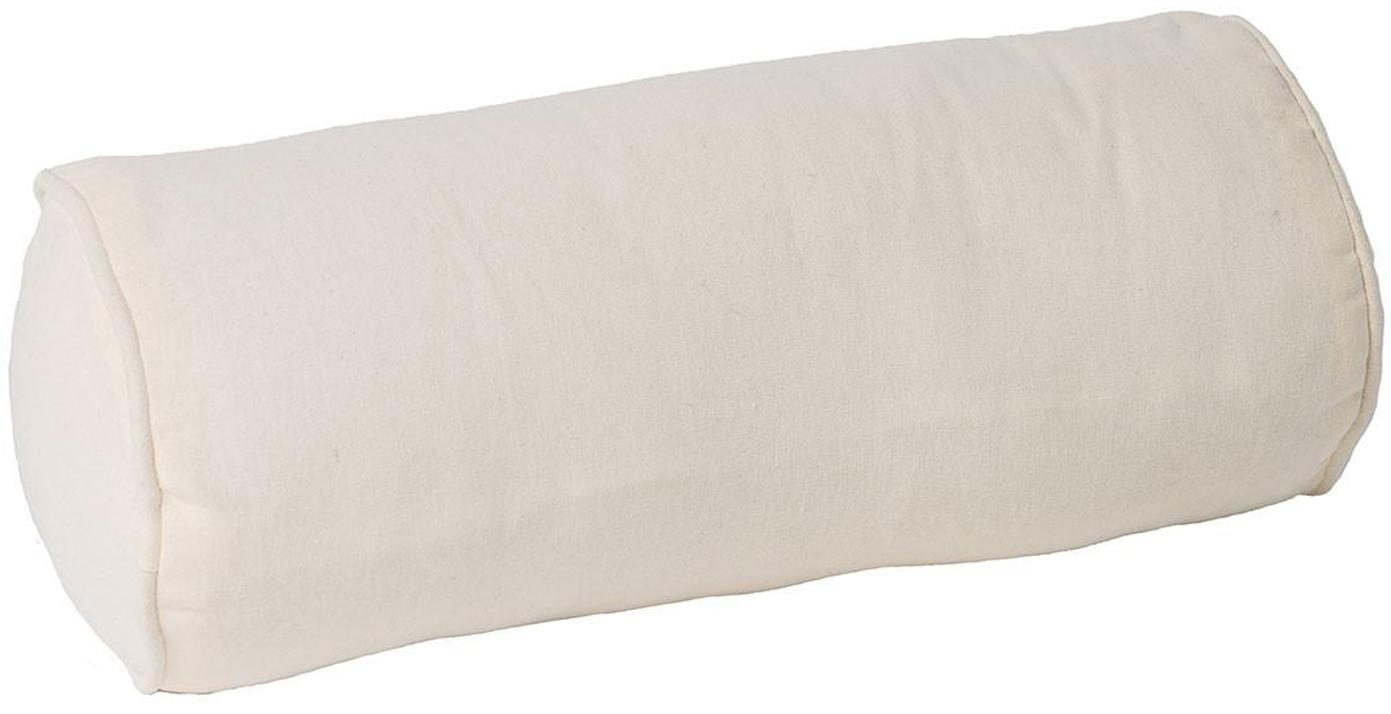 Cojín rulo Barbados, con relleno, Funda: algodón, Crudo, Ø 15 x L 39 cm