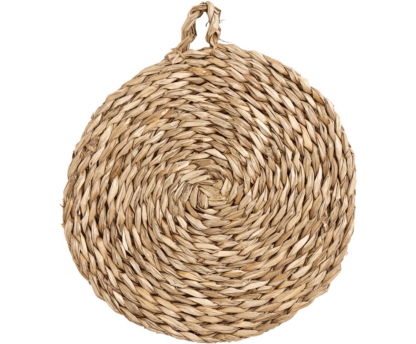 Okrągła podkładka z trawy morskiej Montreal, 2 szt., Trawa morska, Beżowy, Ø 40 cm