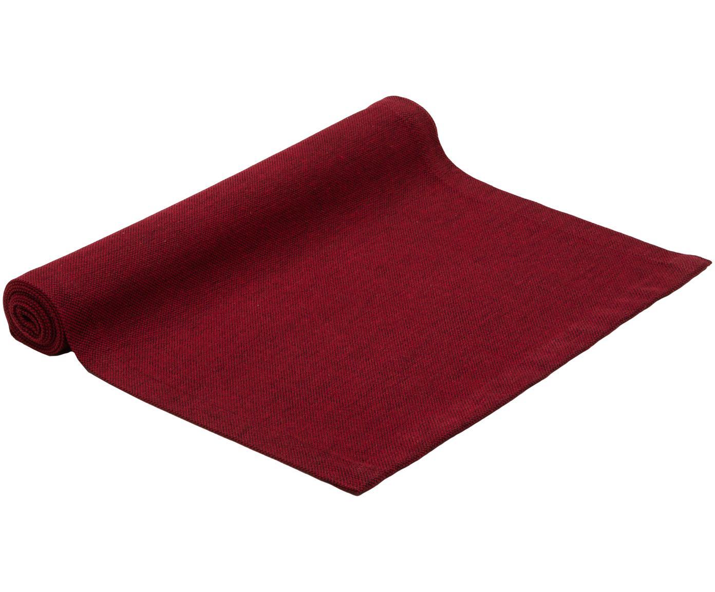 Camino de mesa Riva, 55%algodón, 45%poliéster, Rojo, An 40 x L 150 cm