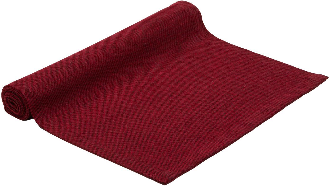 Tischläufer Riva, 55%Baumwolle, 45%Polyester, Rot, 40 x 150 cm