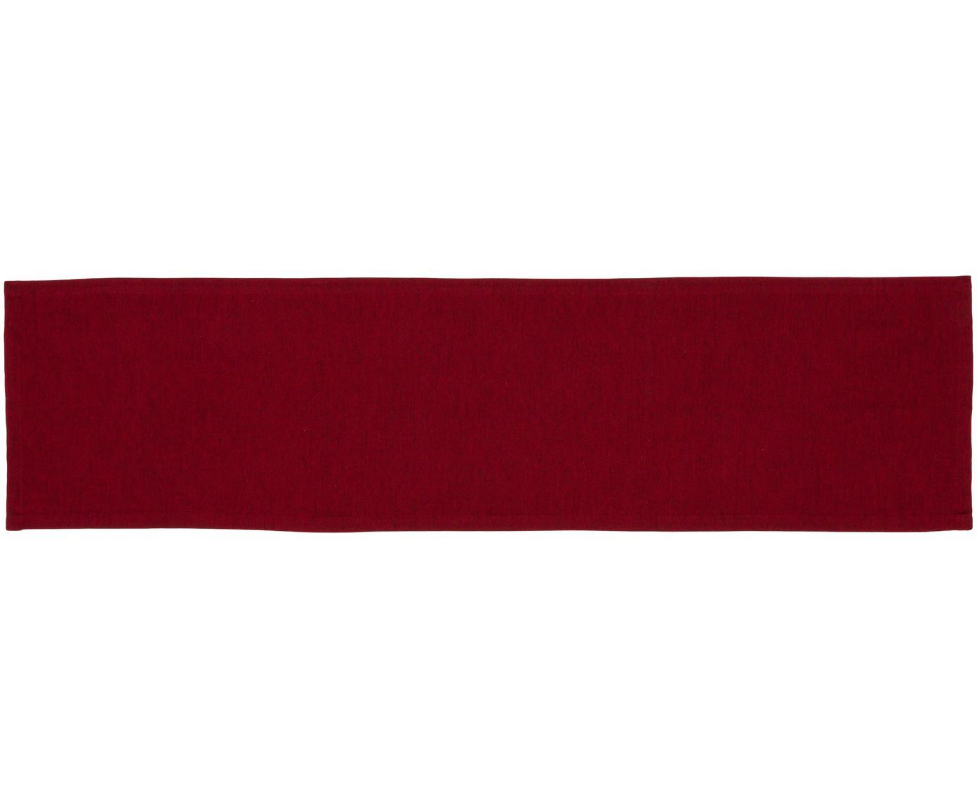 Runner da tavolo Riva, 55% cotone, 45% poliestere, Rosso, Larg. 40 x Lung. 150 cm