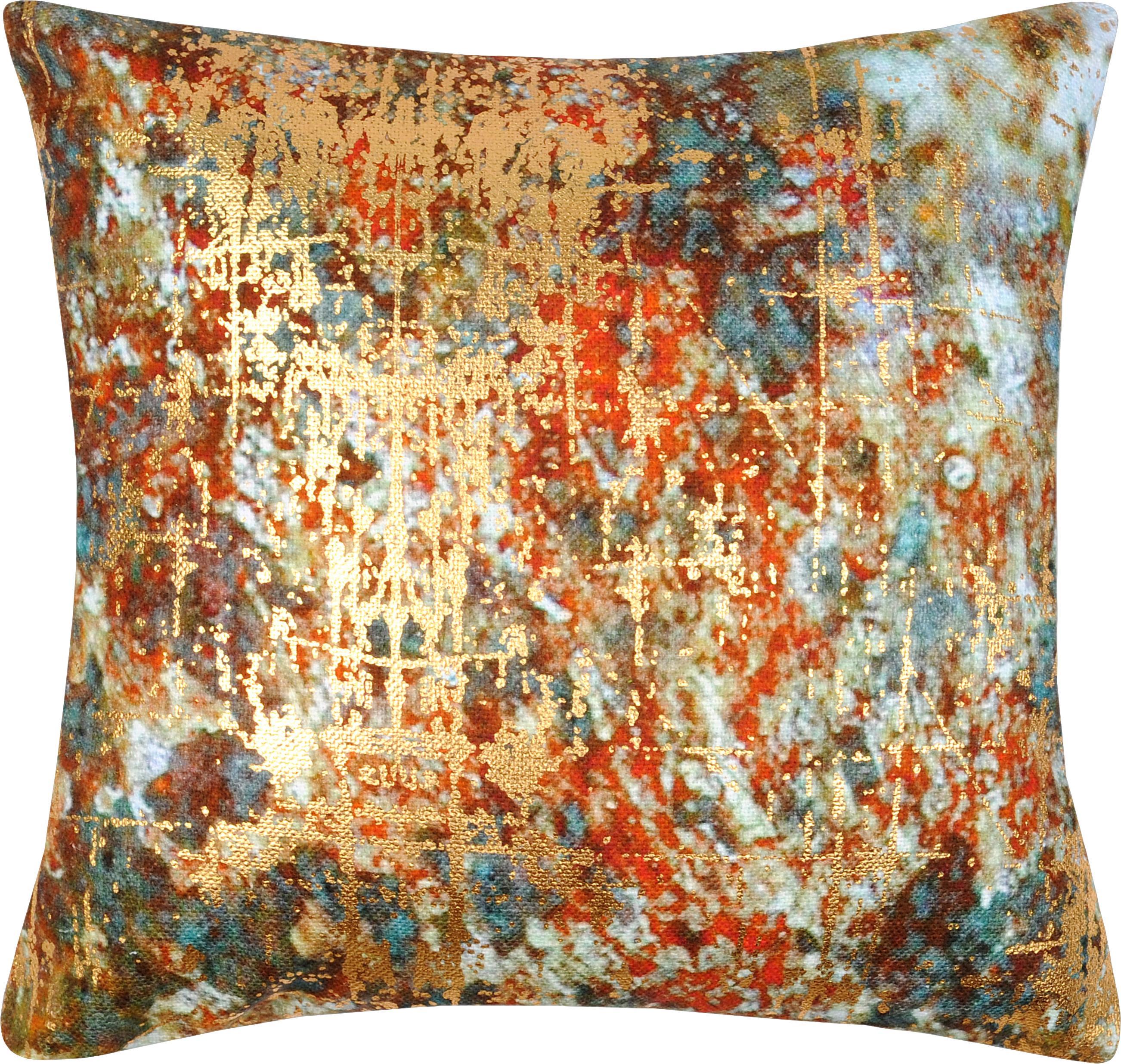 Kussenhoes Fabienn, Katoen, Multicolour, goudkleurig, 40 x 40 cm
