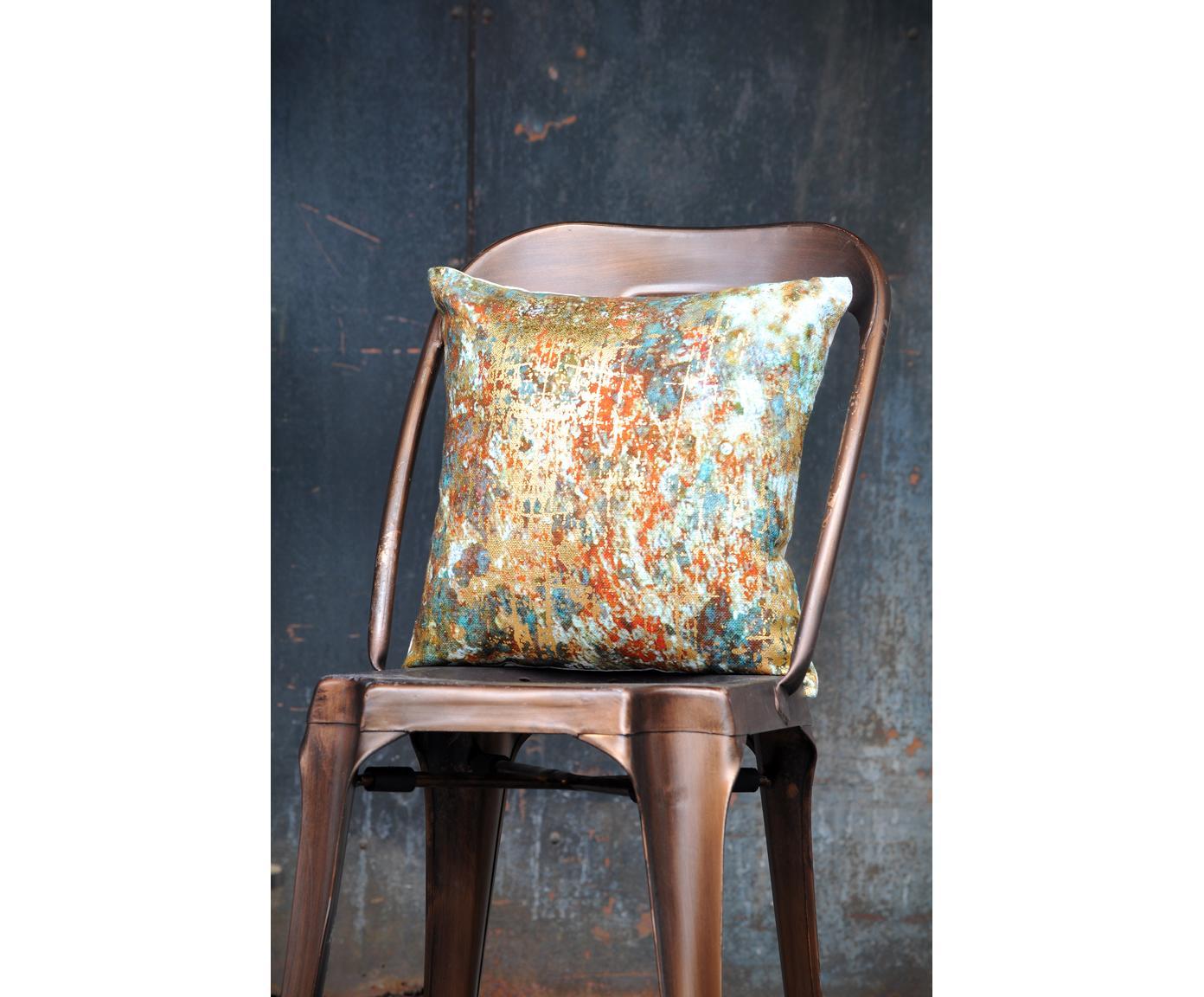 Poszewka na poduszkę Fabienn, Bawełna, Wielobarwny, odcienie złotego, S 40 x D 40 cm