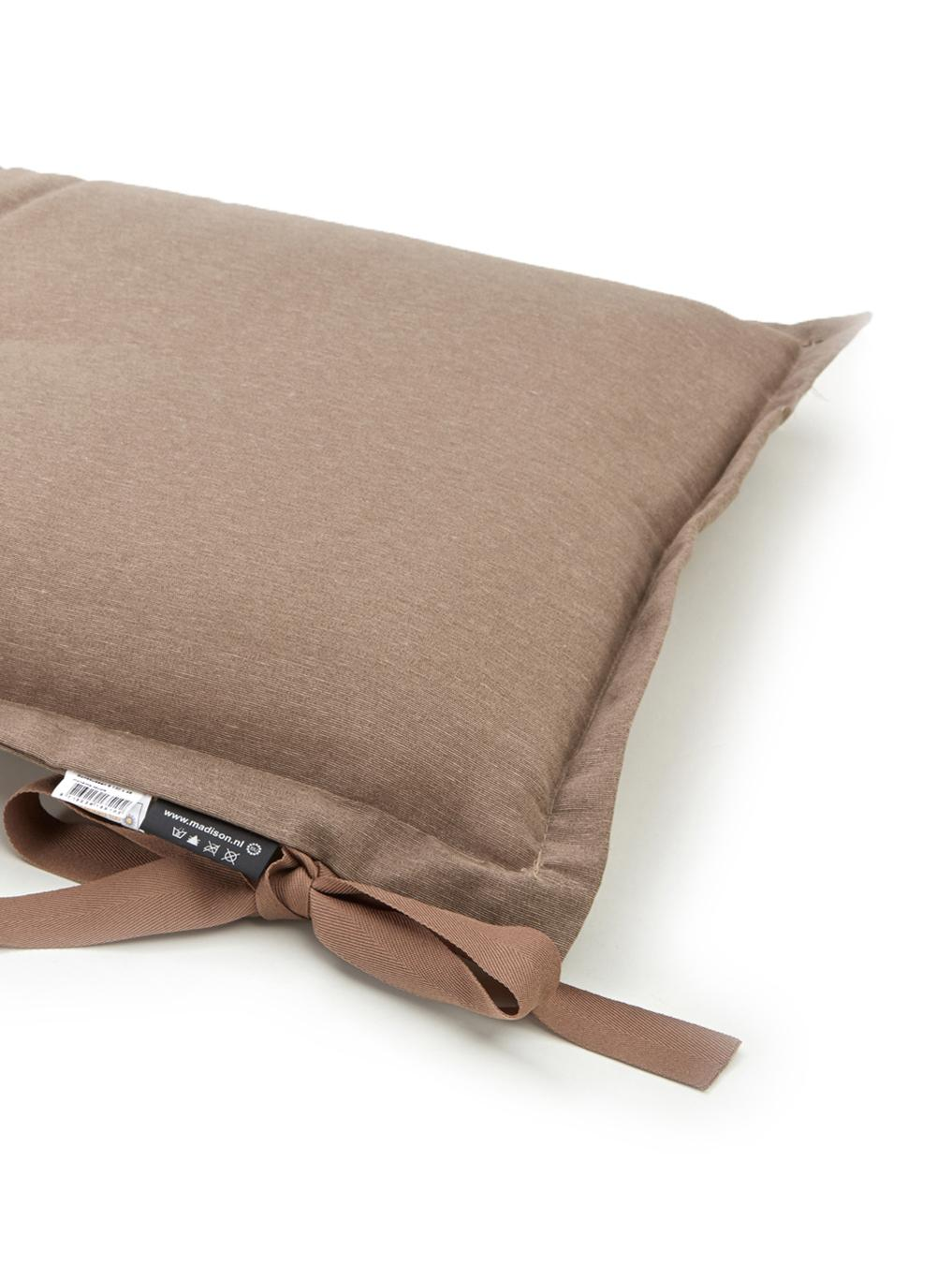 Coussin pour banc taupe Panama, Taupe