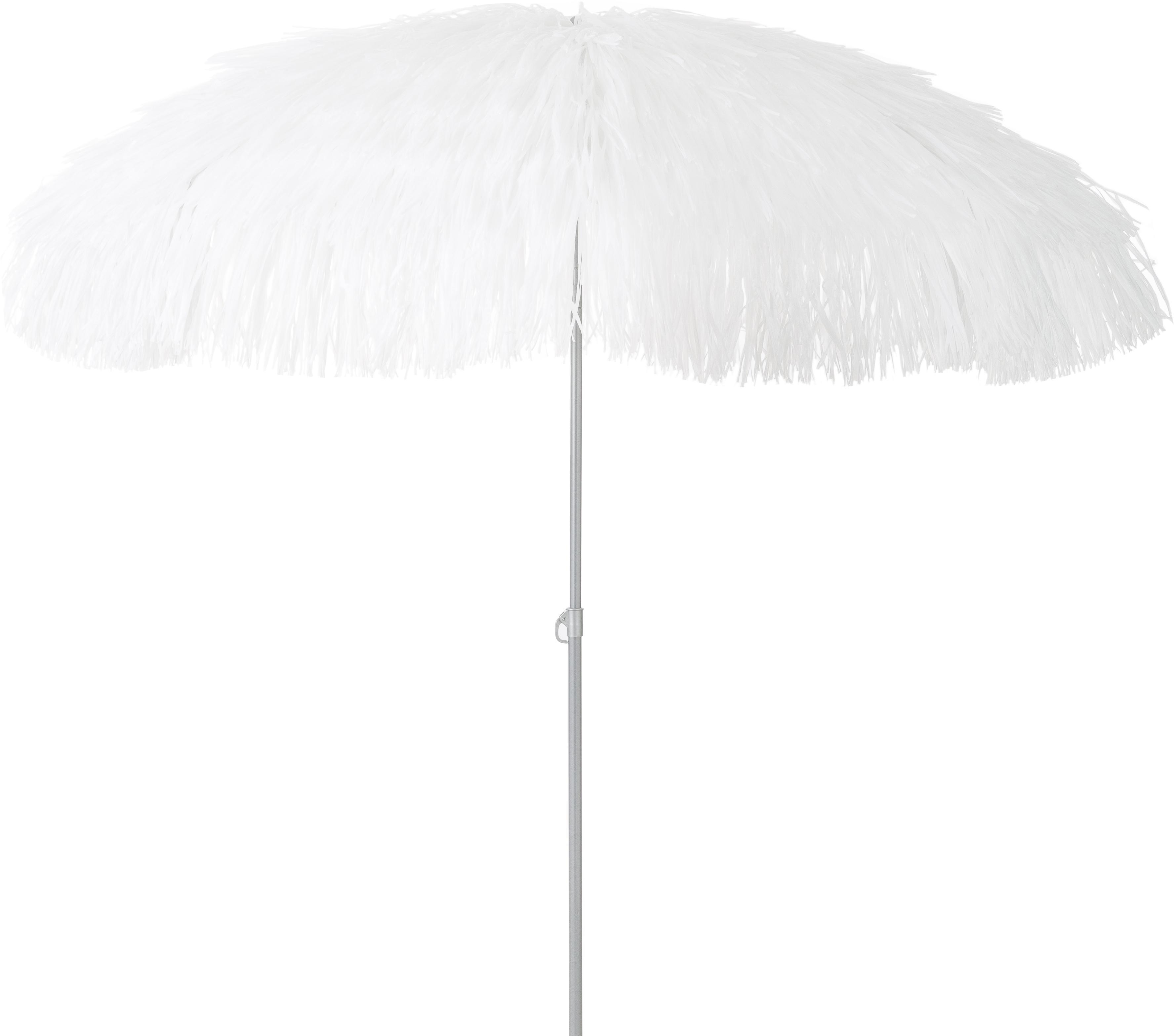 Parasol Hawaii, Wit, Ø 200 x H 210 cm