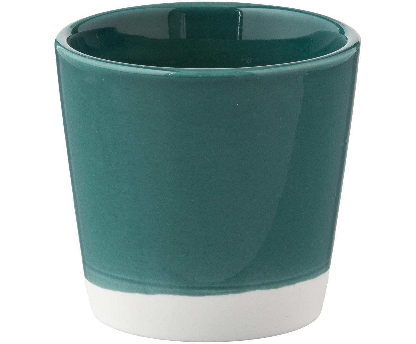 Espressobecher Yen in Gelb/Grün, 4er-Set, Sandstein, Tassen 1 und 2: Weiß, GrünTassen 3 und 4: Weiß, Gelb, Ø 7 x H 6 cm