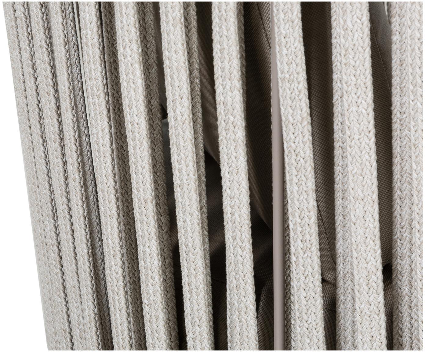 Poltrona da giardino con cuscino Sunderland, Gambe: acciaio zincato verniciat, Rivestimento: poliacrilico, Taupe, taupe chiaro, Larg. 73 x Prof. 74 cm