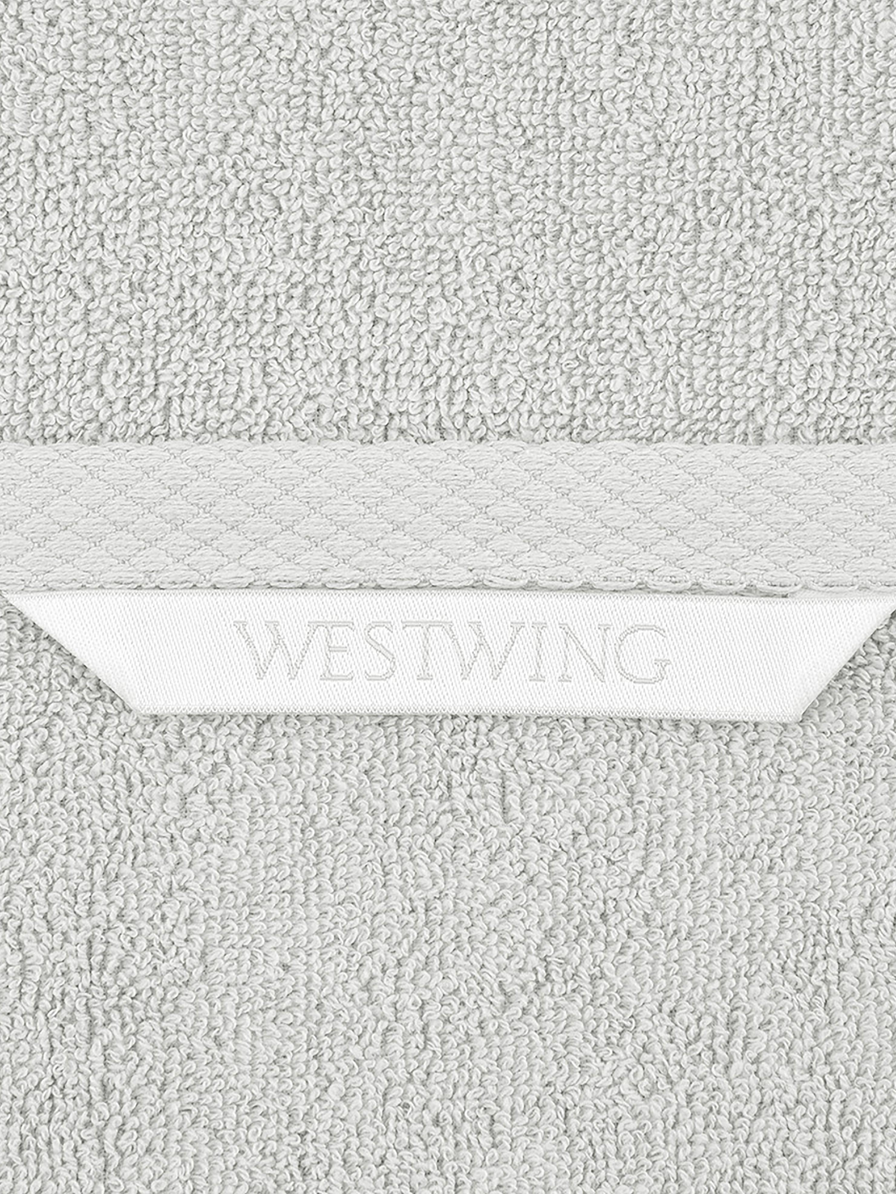 Einfarbiges Handtuch-Set Comfort, 3-tlg., Hellgrau, Sondergrößen