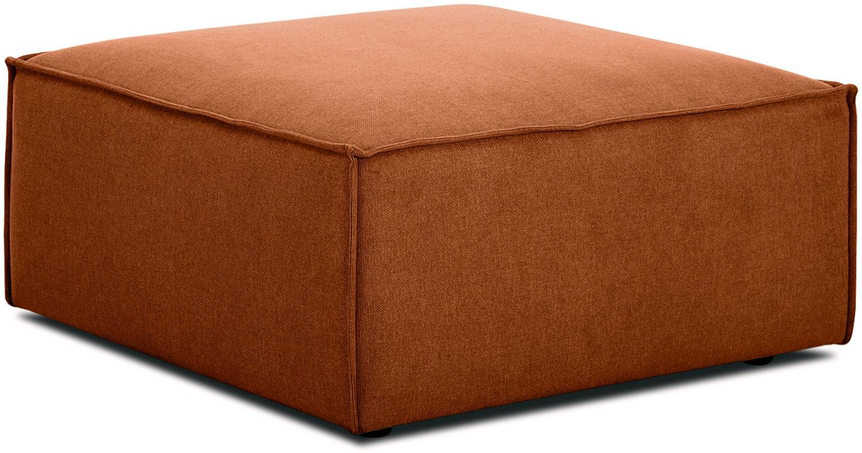 Poggiapiedi da divano color terracotta Lennon, Rivestimento: poliestere 35.000 cicli d, Struttura: legno di pino massiccio, , Piedini: materiale sintetico, Tessuto colore terracotta, Larg. 88 x Alt. 43 cm