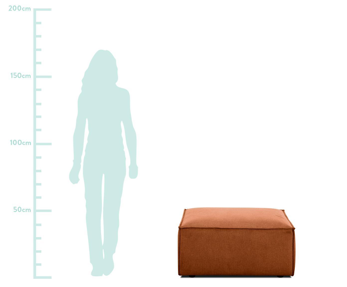 Puf Lennon, Tapicerka: 60% poliester, 40% wiskoz, Stelaż: lite drewno sosnowe, płyt, Nogi: tworzywo sztuczne, Terakota, S 88 x W 43 cm