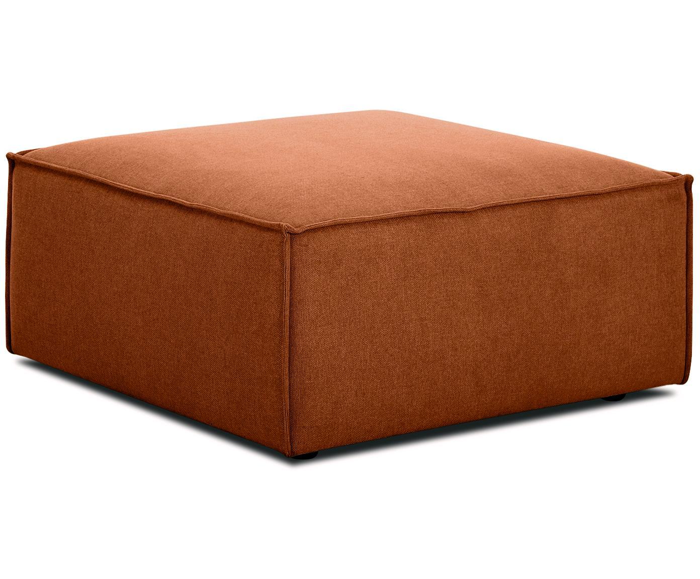 Poggiapiedi da divano Lennon, Rivestimento: poliestere 35.000 cicli d, Struttura: legno di pino massiccio, , Piedini: materiale sintetico, Tessuto colore terracotta, Larg. 88 x Alt. 43 cm