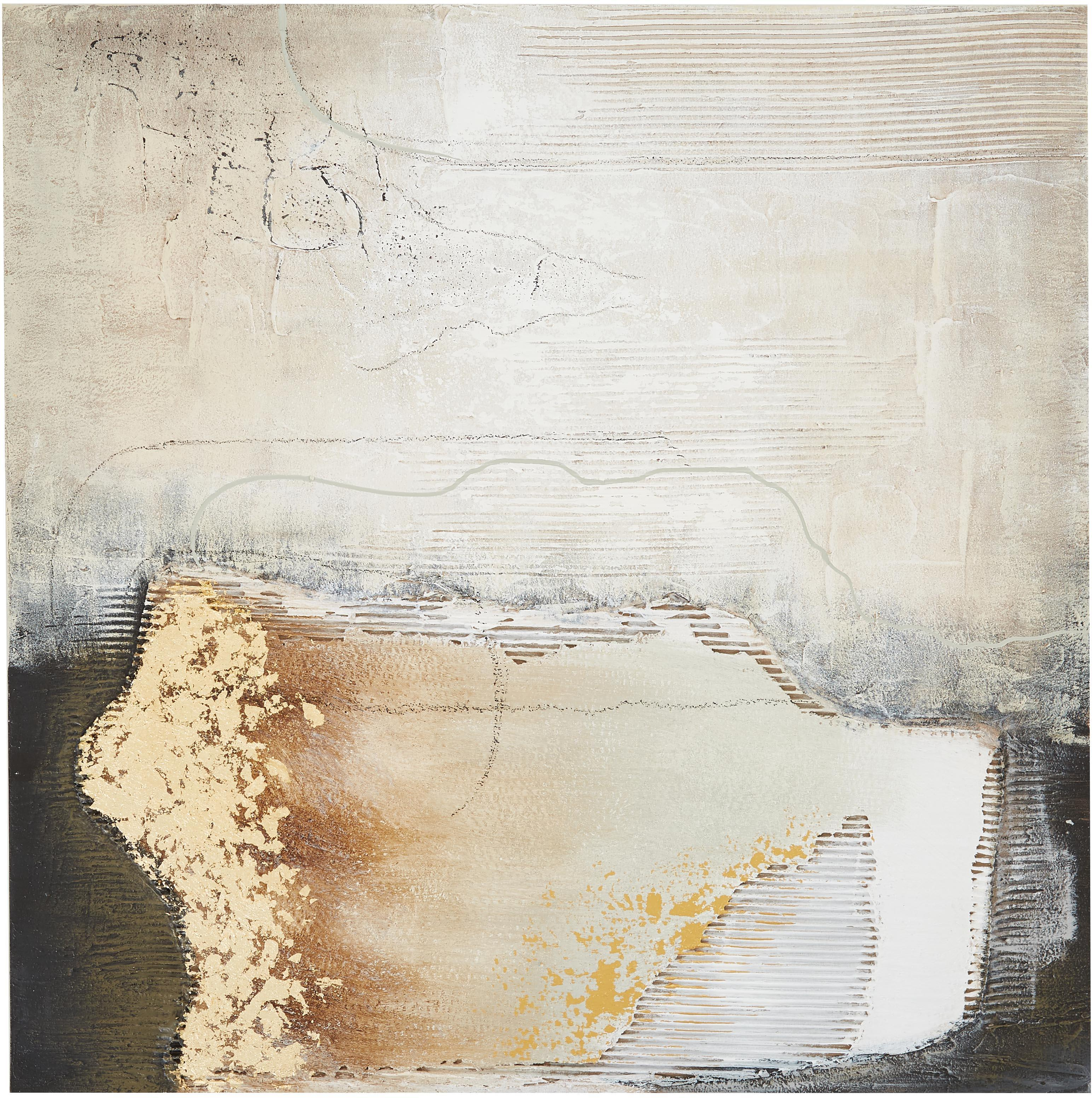 Ręcznie malowany obraz na płótnie Texture, Wielobarwny, S 100 x W 100 cm